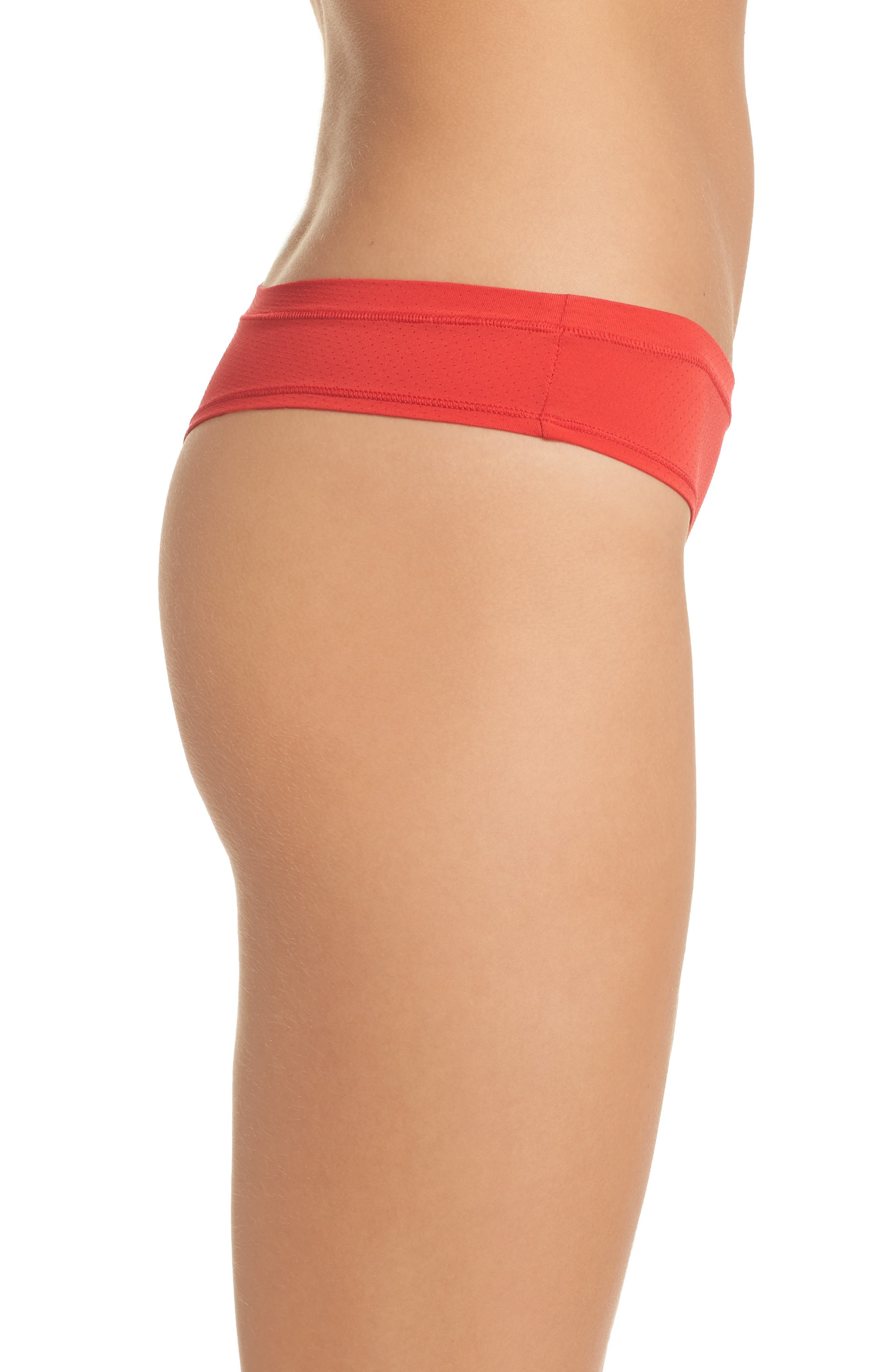 Perforated Active Thong,                             Alternate thumbnail 3, color,                             Red Chinoise