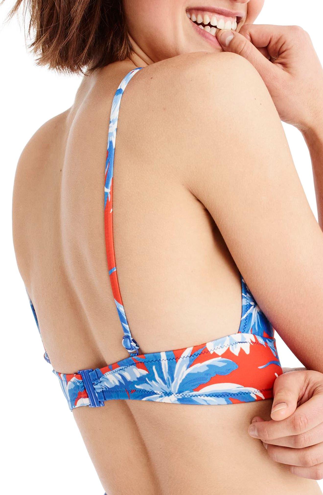 Farrah Bikini Top,                             Alternate thumbnail 2, color,                             Blue Multi