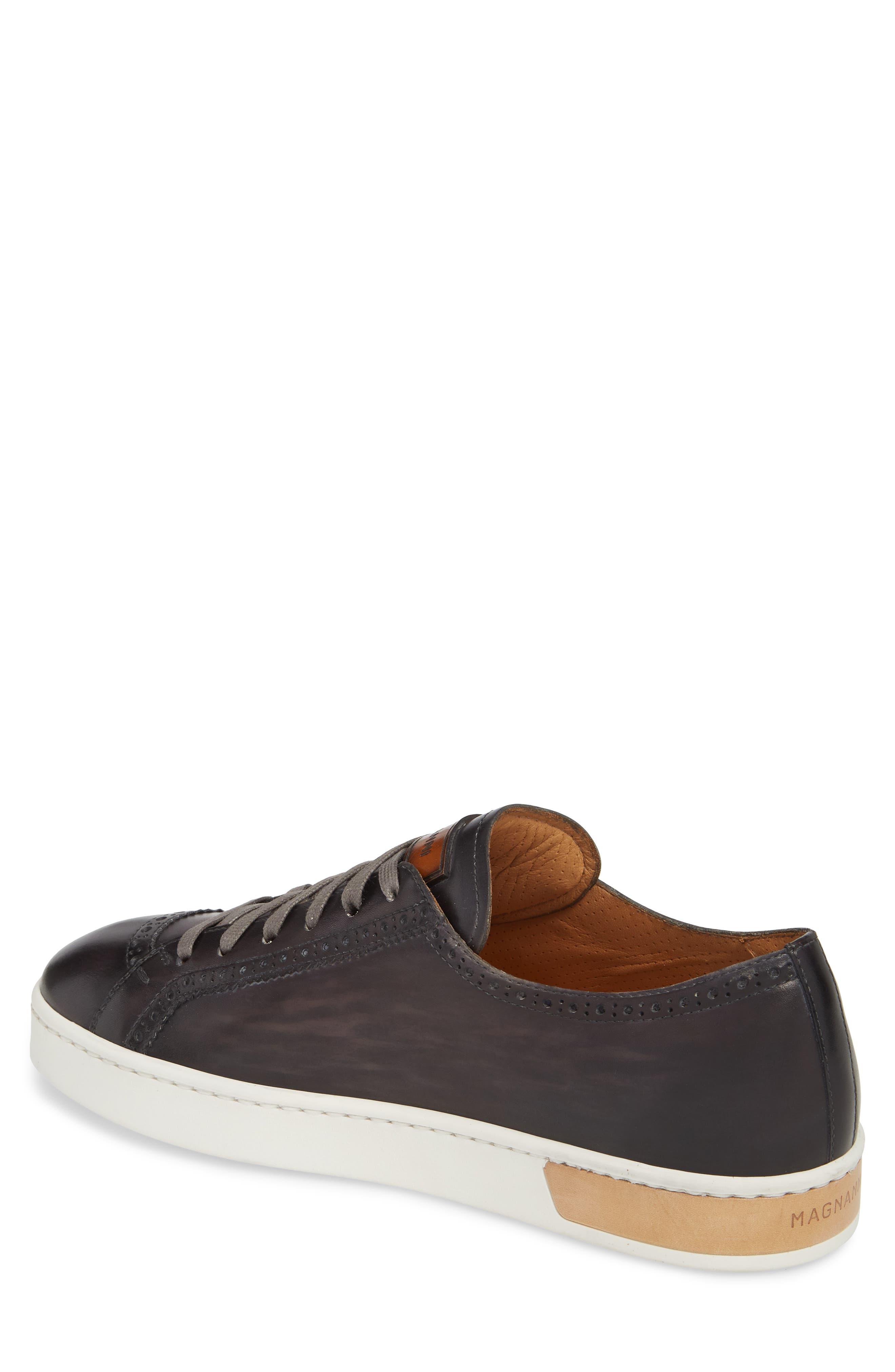 Juniper Brogued Low Top Sneaker,                             Alternate thumbnail 2, color,                             Grey Leather