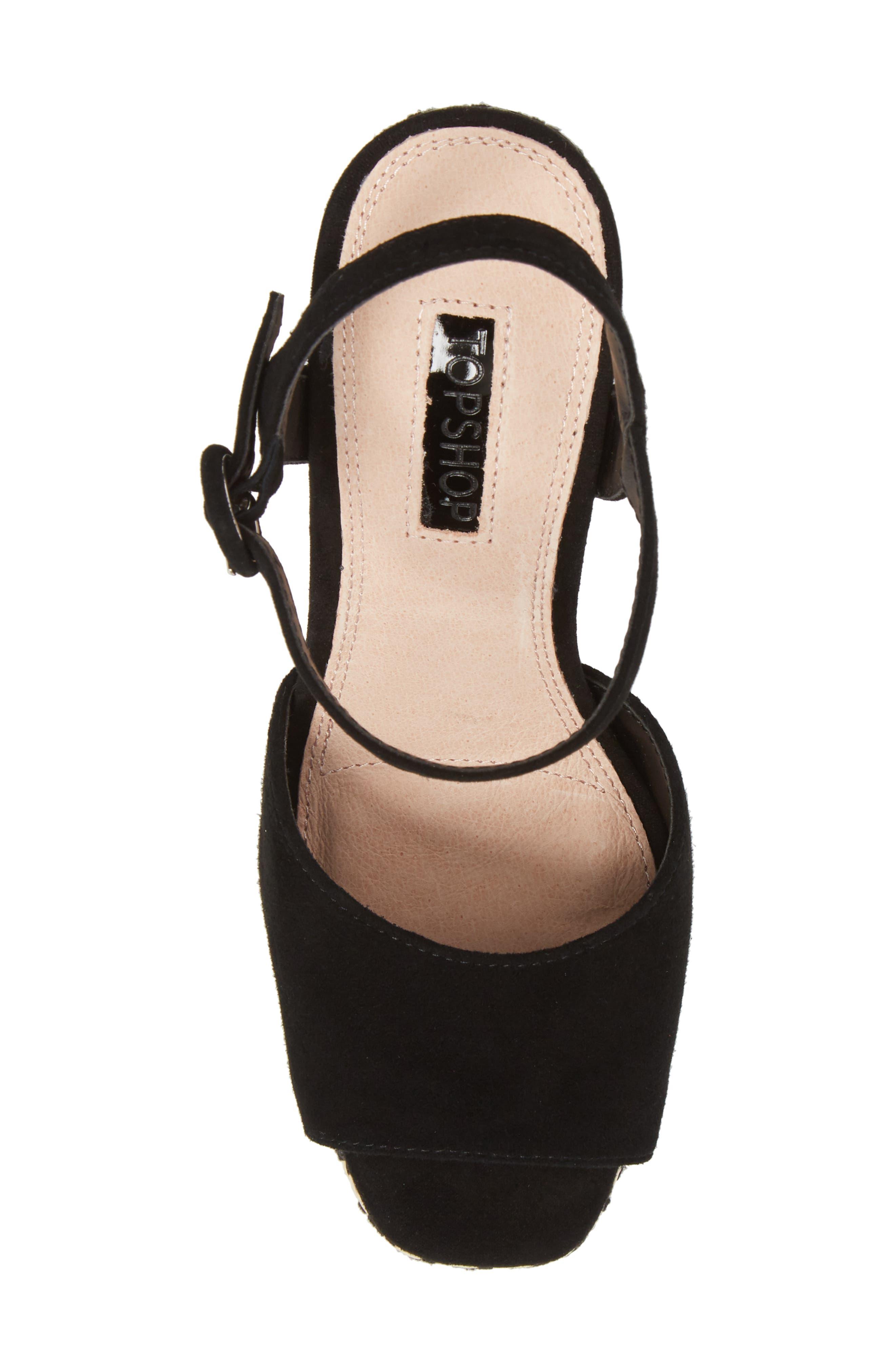 Laura Woven Block Heel Sandal,                             Alternate thumbnail 5, color,                             Black Multi