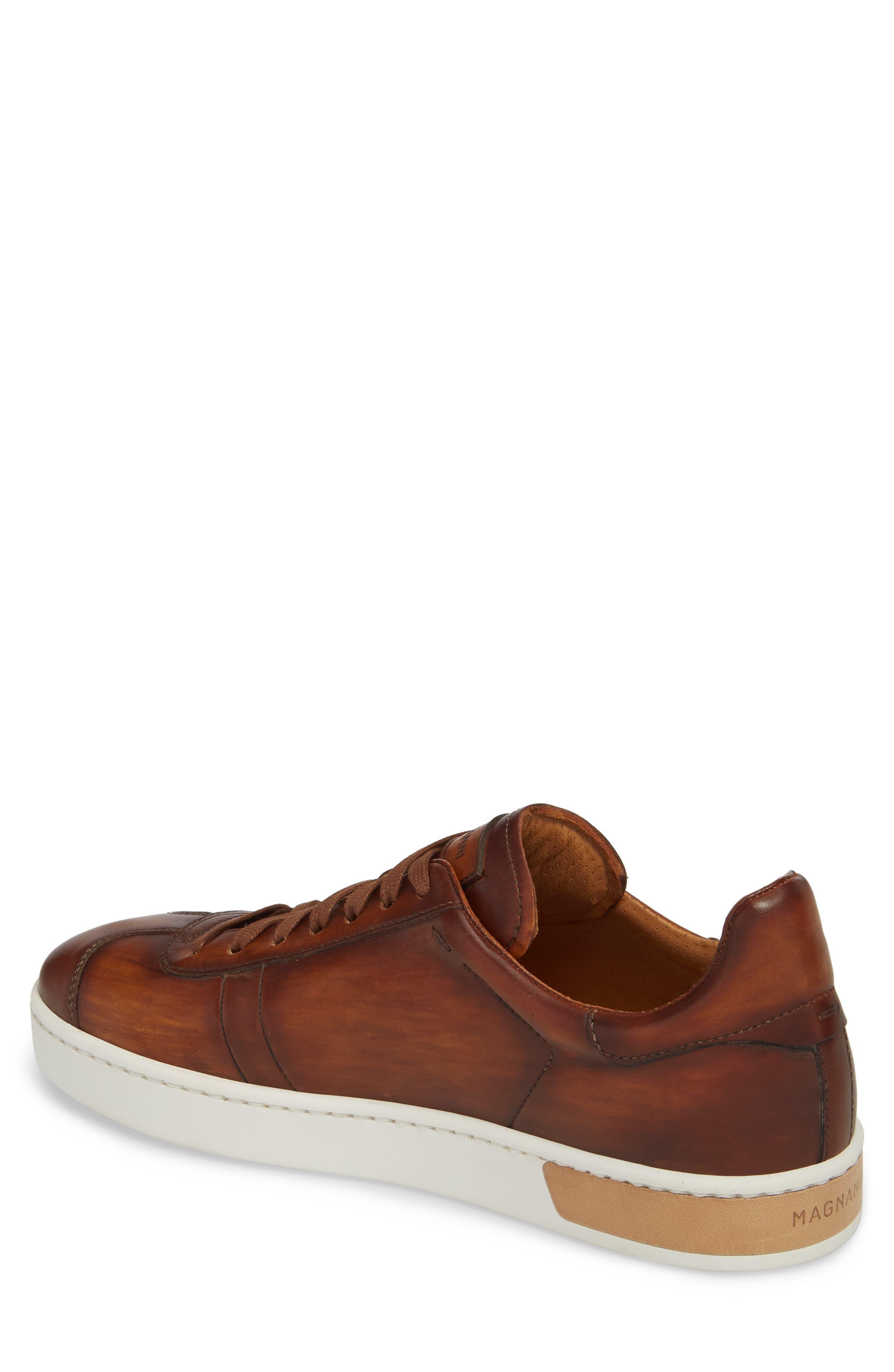 Gunner Low Top Sneaker,                             Alternate thumbnail 2, color,                             Cuero Leather