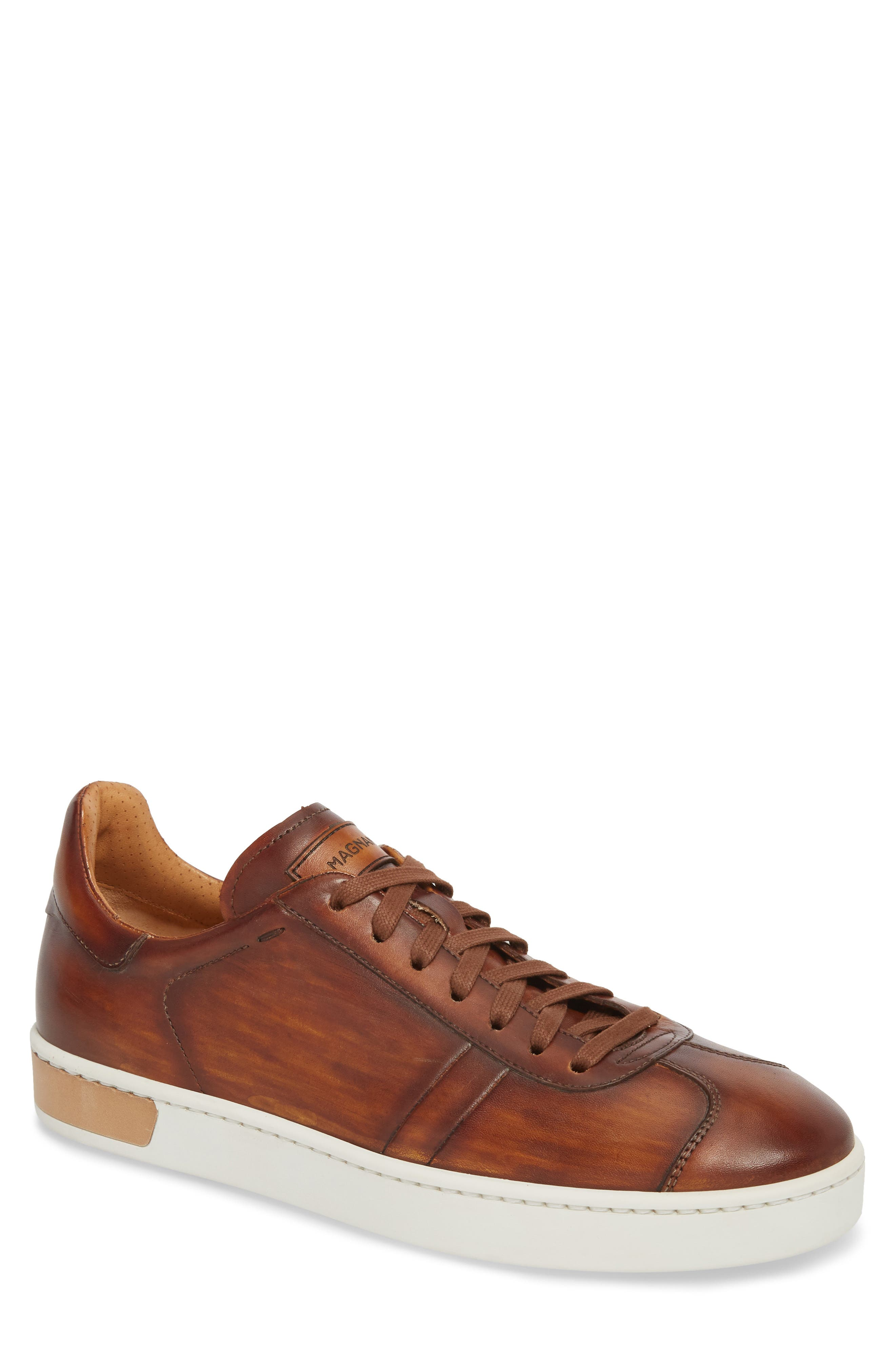 Gunner Low Top Sneaker,                             Main thumbnail 1, color,                             Cuero Leather