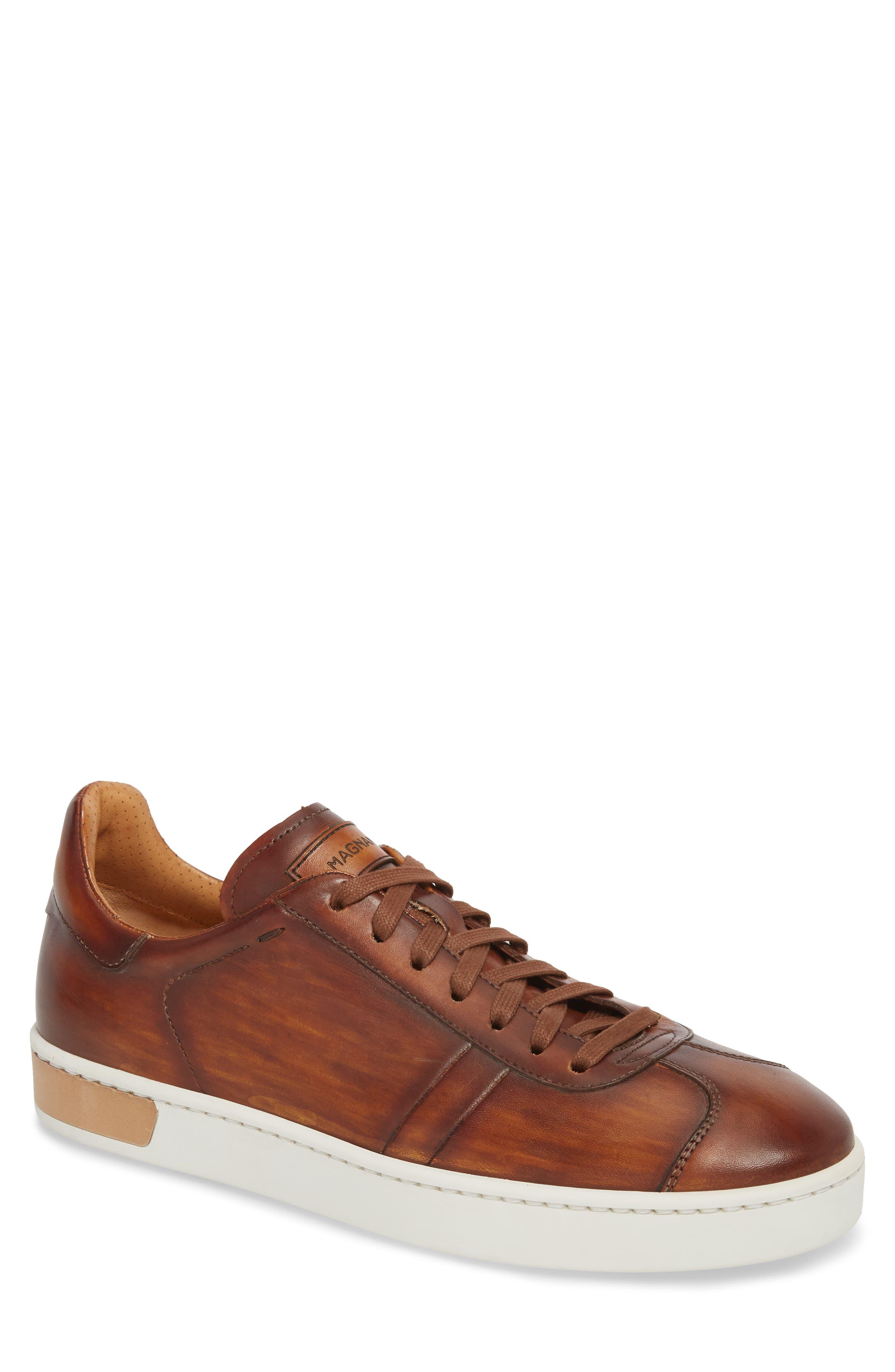 Gunner Low Top Sneaker,                         Main,                         color, Cuero Leather