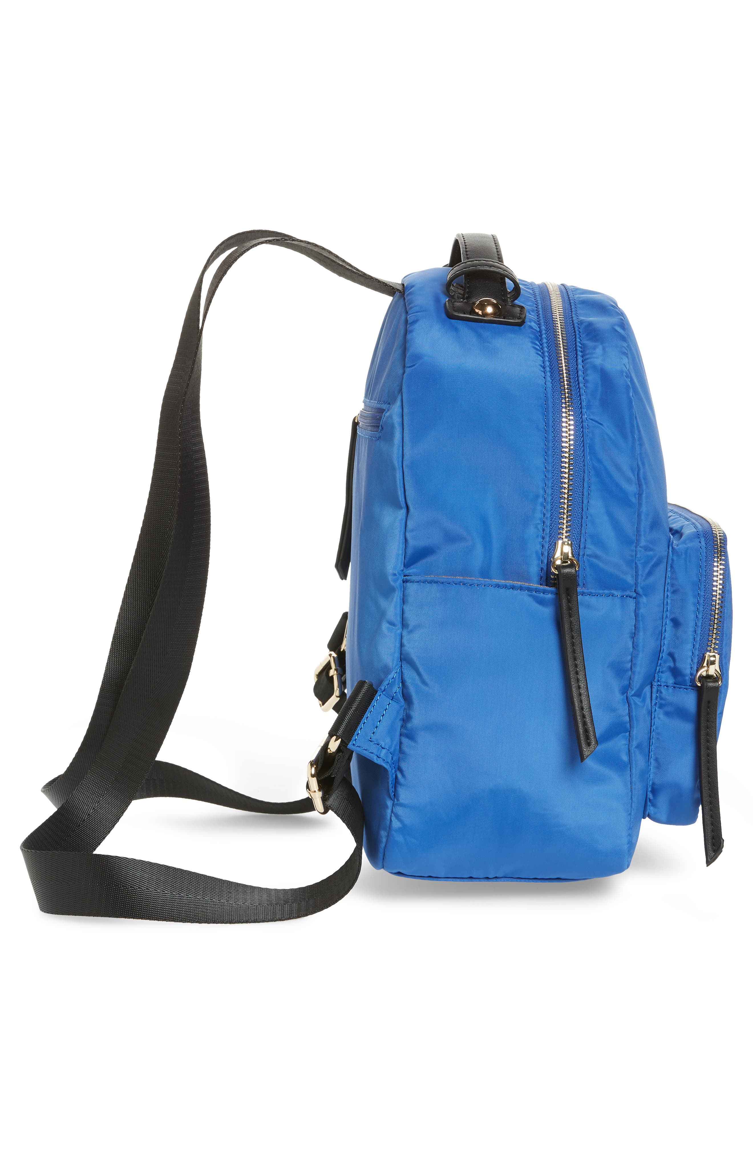 Nylon Backpack,                             Alternate thumbnail 5, color,                             Cobalt