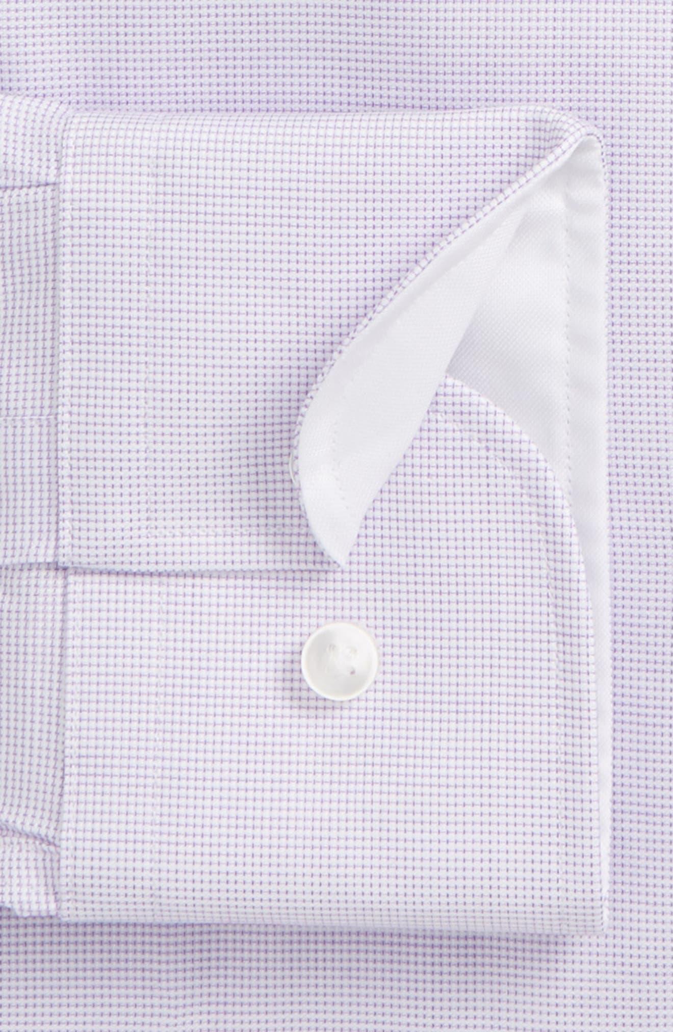 Jesse Slim Fit Dress Shirt,                             Alternate thumbnail 5, color,                             Purple