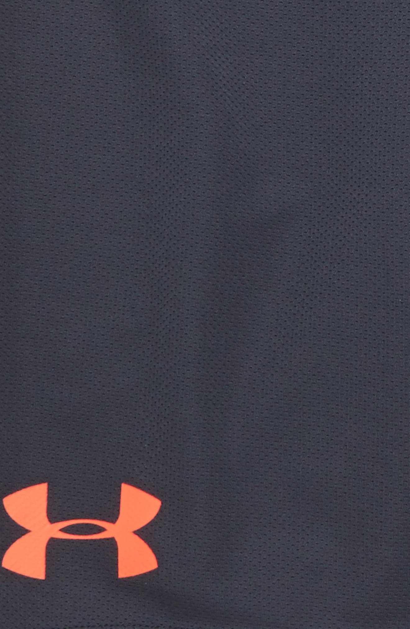 Tech Prototype HeatGear<sup>®</sup> Shorts,                             Alternate thumbnail 2, color,                             Stealth Gray/ Neon Coral
