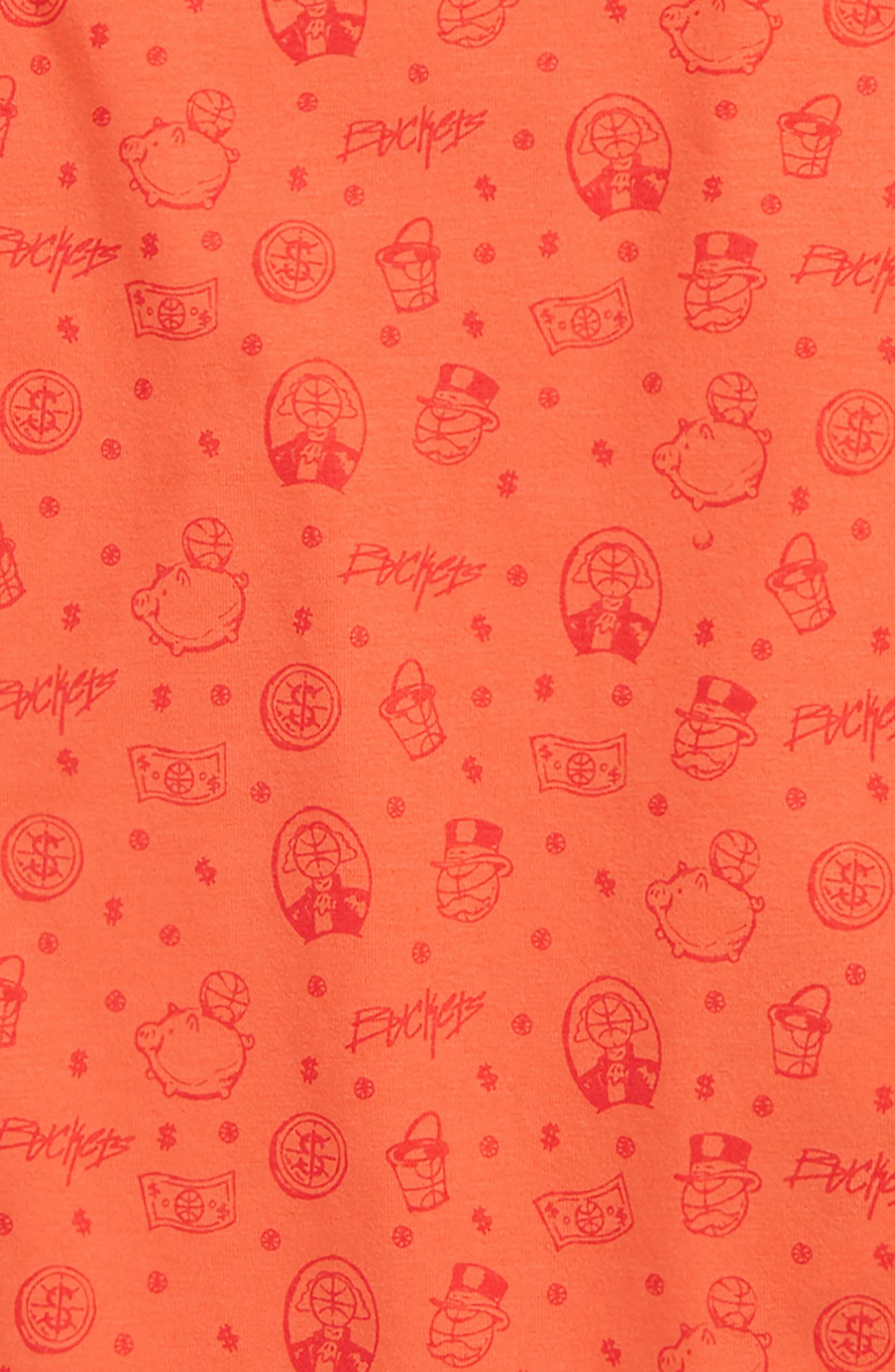 Baseline HeatGear<sup>®</sup> T-Shirt,                             Alternate thumbnail 2, color,                             Neon Coral/ Dandelion