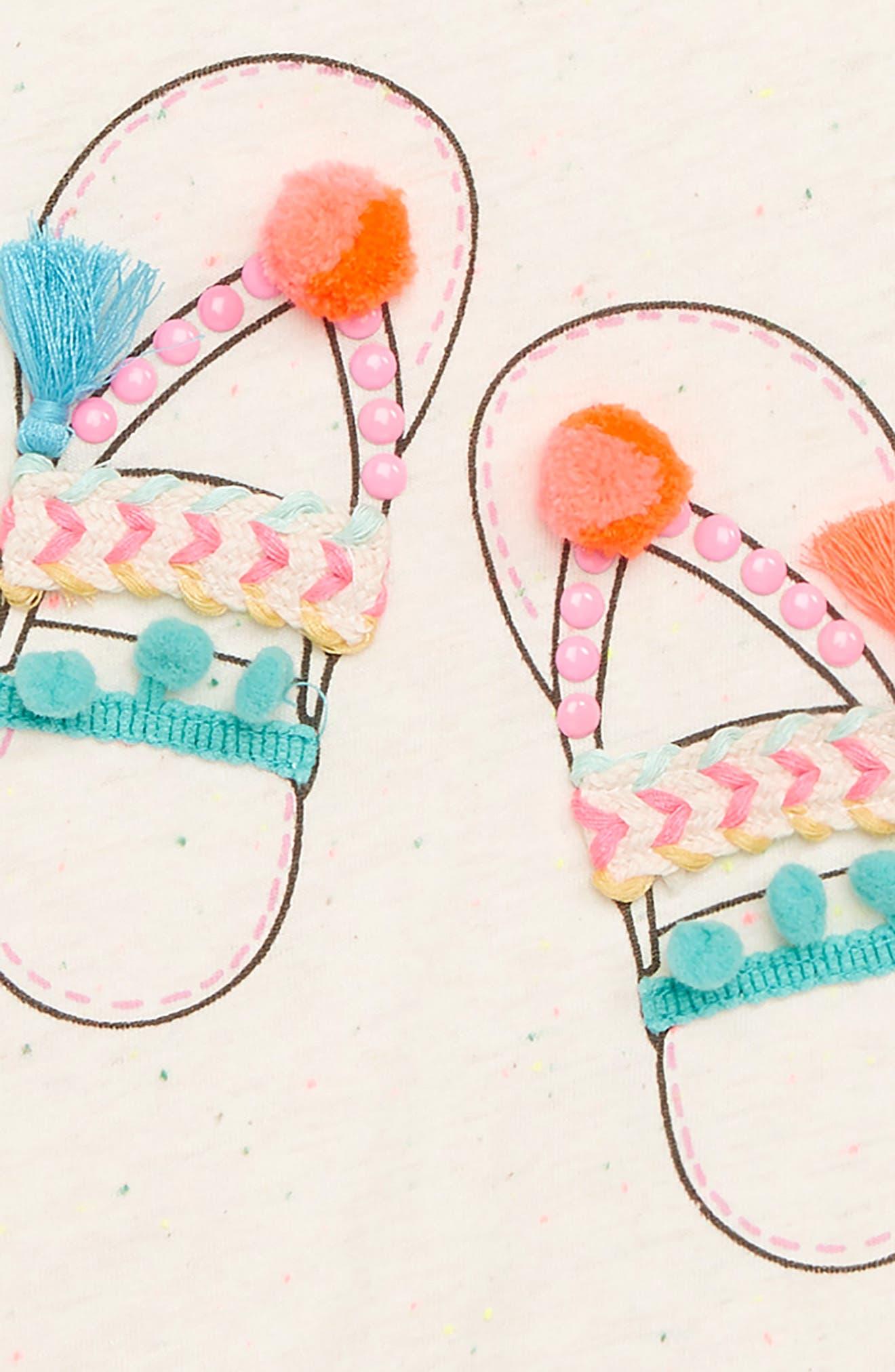 Sandals Embellished Tee,                             Alternate thumbnail 2, color,                             Ivory Multi
