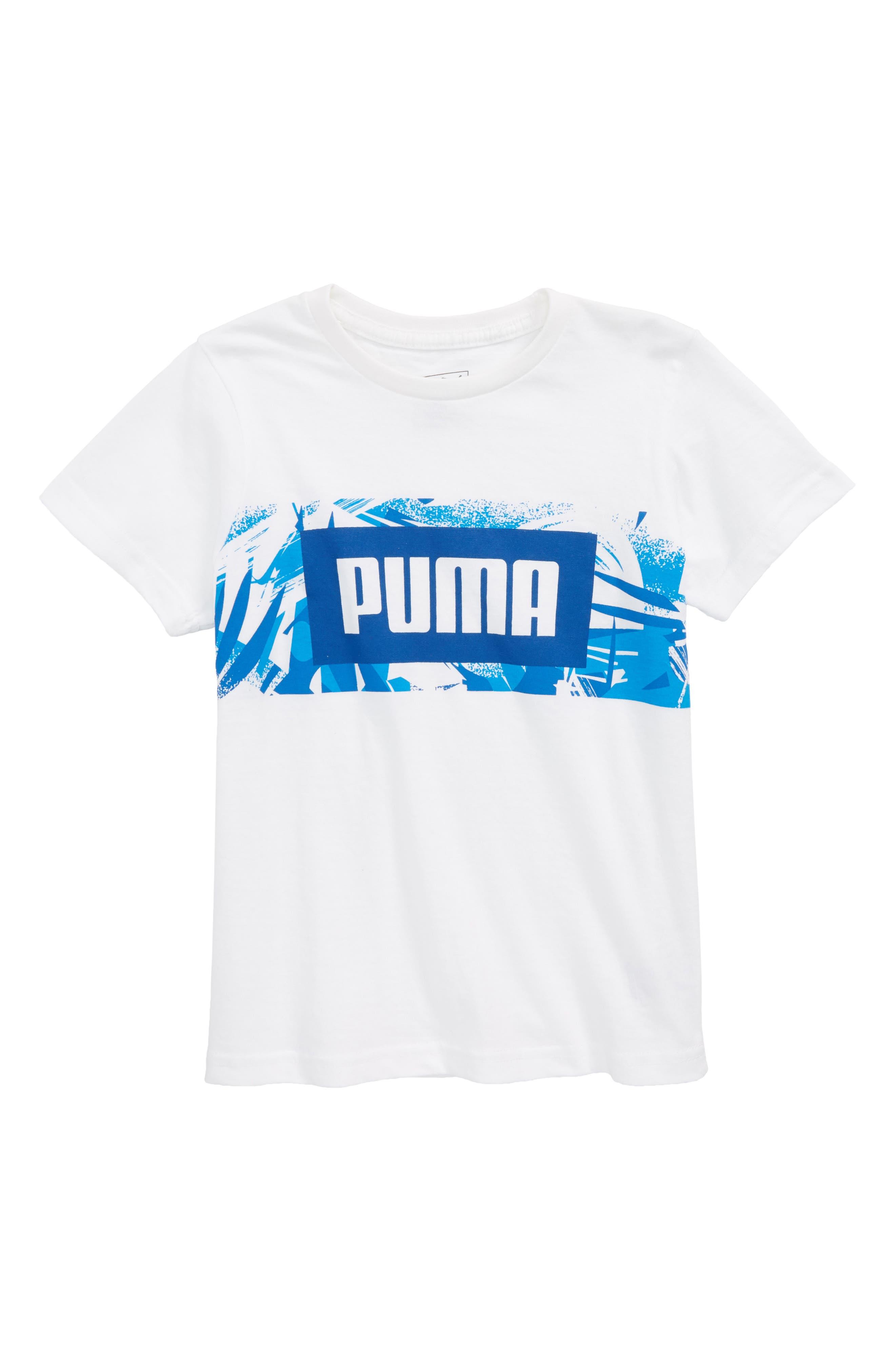 Graphic T-Shirt,                         Main,                         color, Puma White