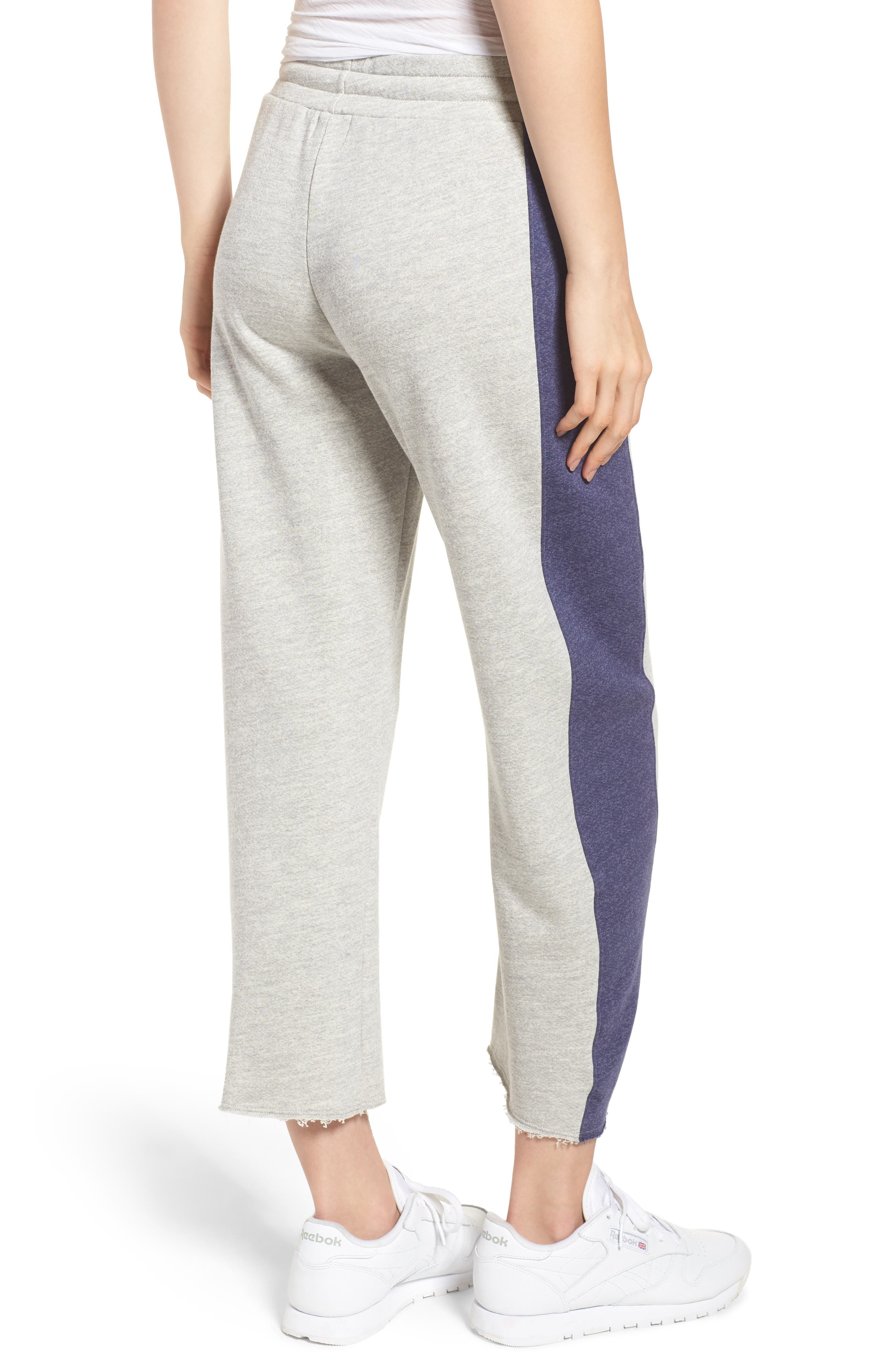 Terry Colorblock Sweatpants,                             Alternate thumbnail 2, color,                             Heather Grey
