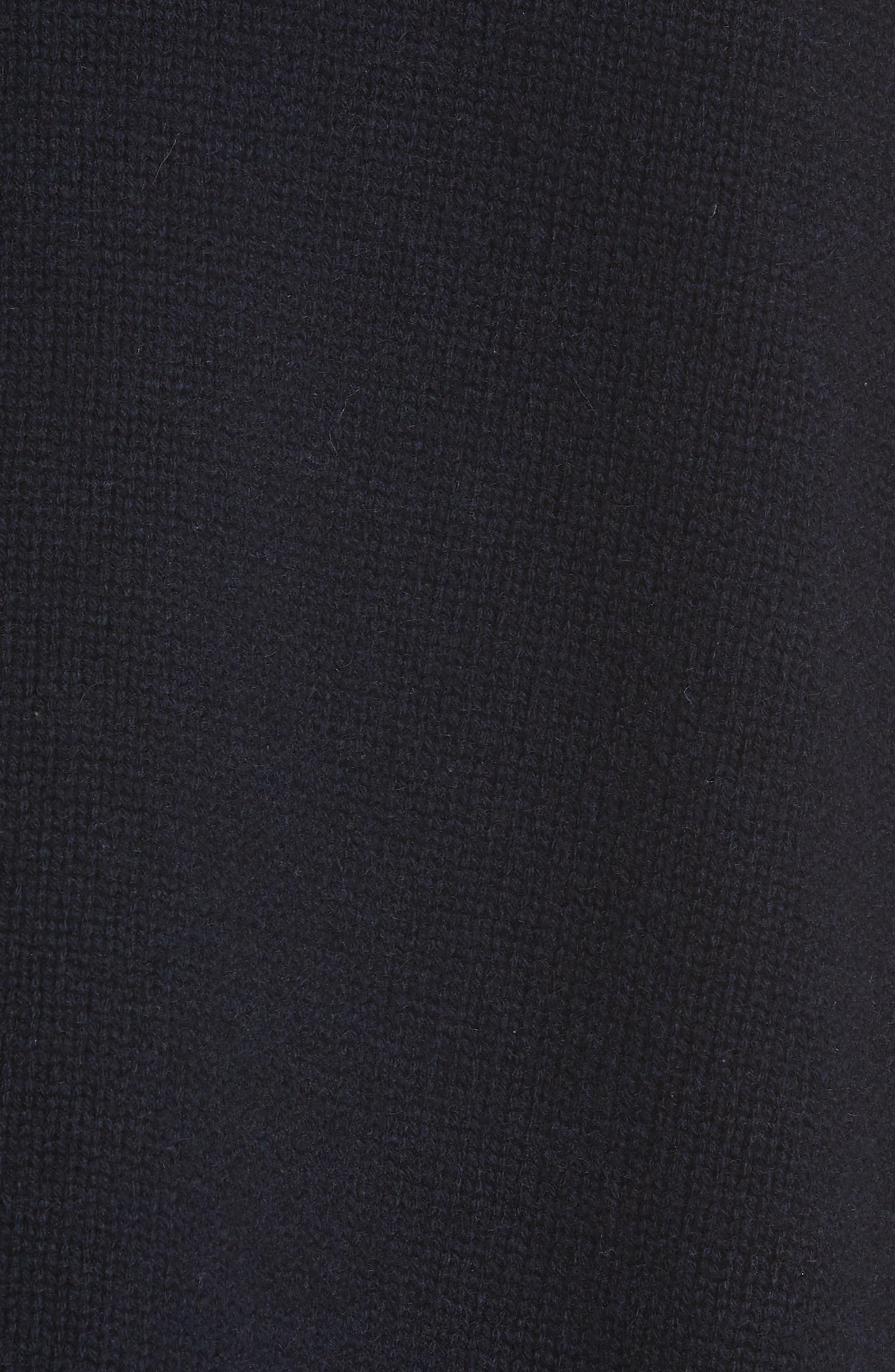 Serinda Wool & Cashmere Turtleneck Sweater,                             Alternate thumbnail 5, color,                             Dark Navy