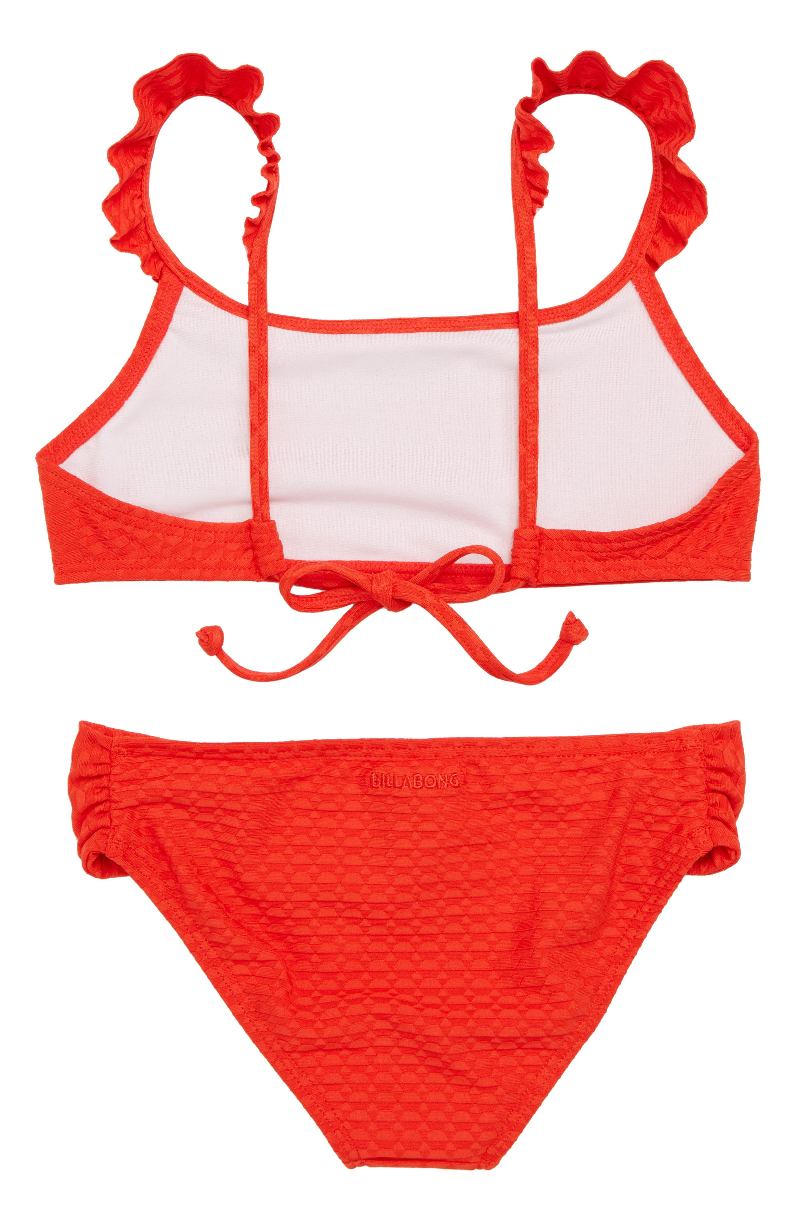 Makin Shapes Two-Piece Swimsuit,                             Alternate thumbnail 3, color,                             Poppy