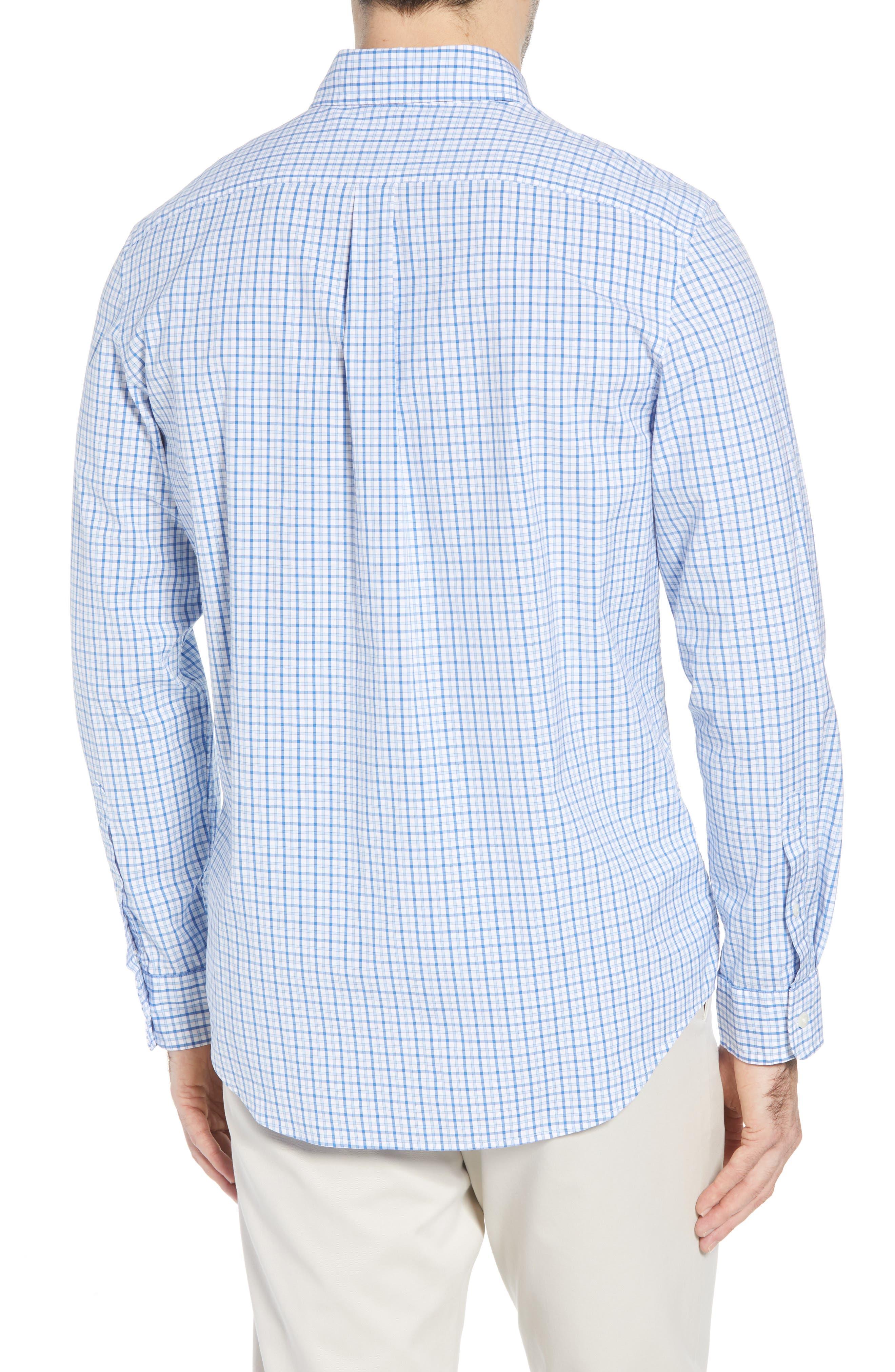 Clark Cove Tucker Classic Fit Check Sport Shirt,                             Alternate thumbnail 3, color,                             Jake Blue