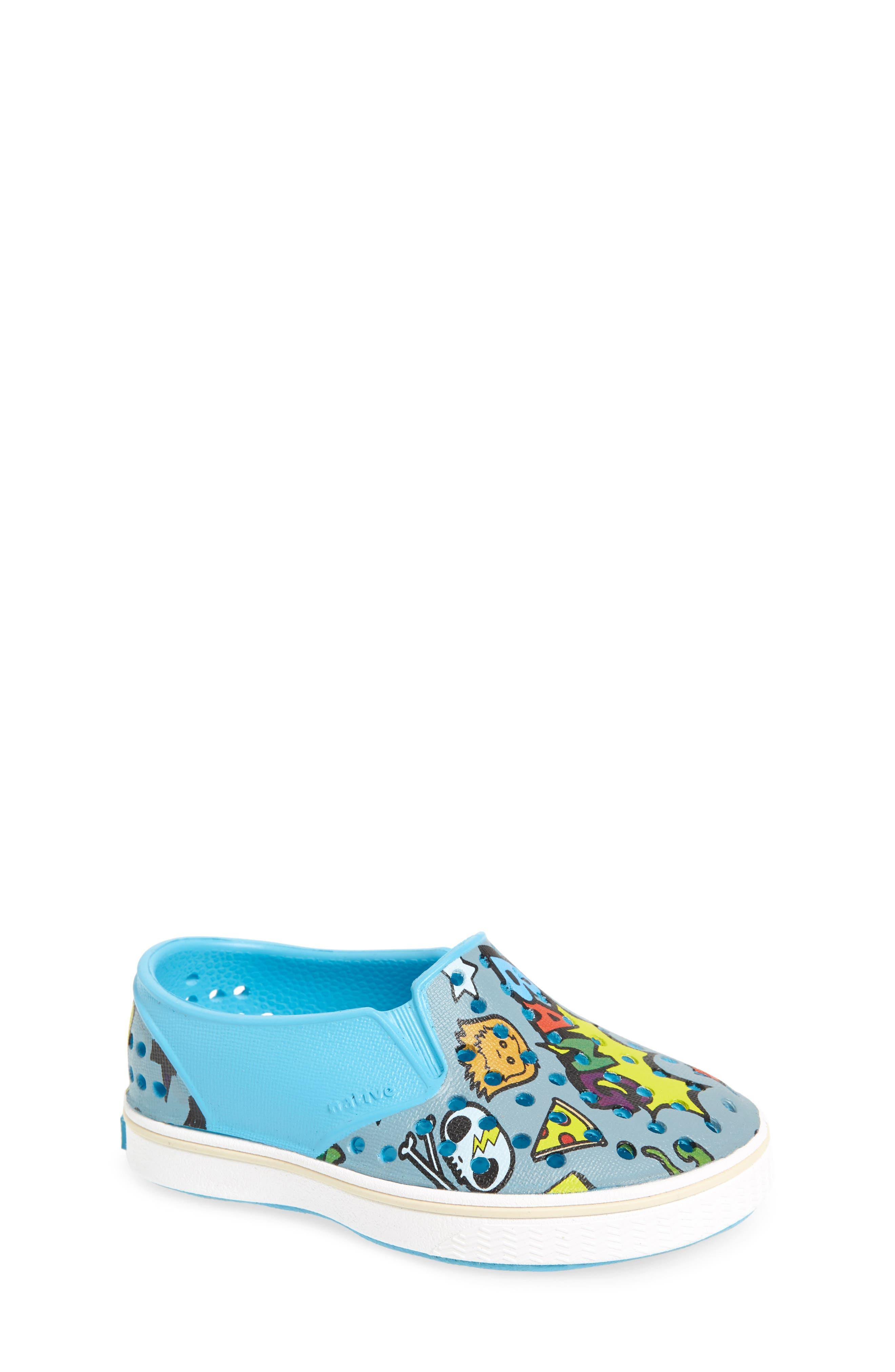 Alternate Image 1 Selected - Native Shoes Miles Print Slip-On Sneaker (Baby, Walker, Toddler, Little Kid & Big Kid)