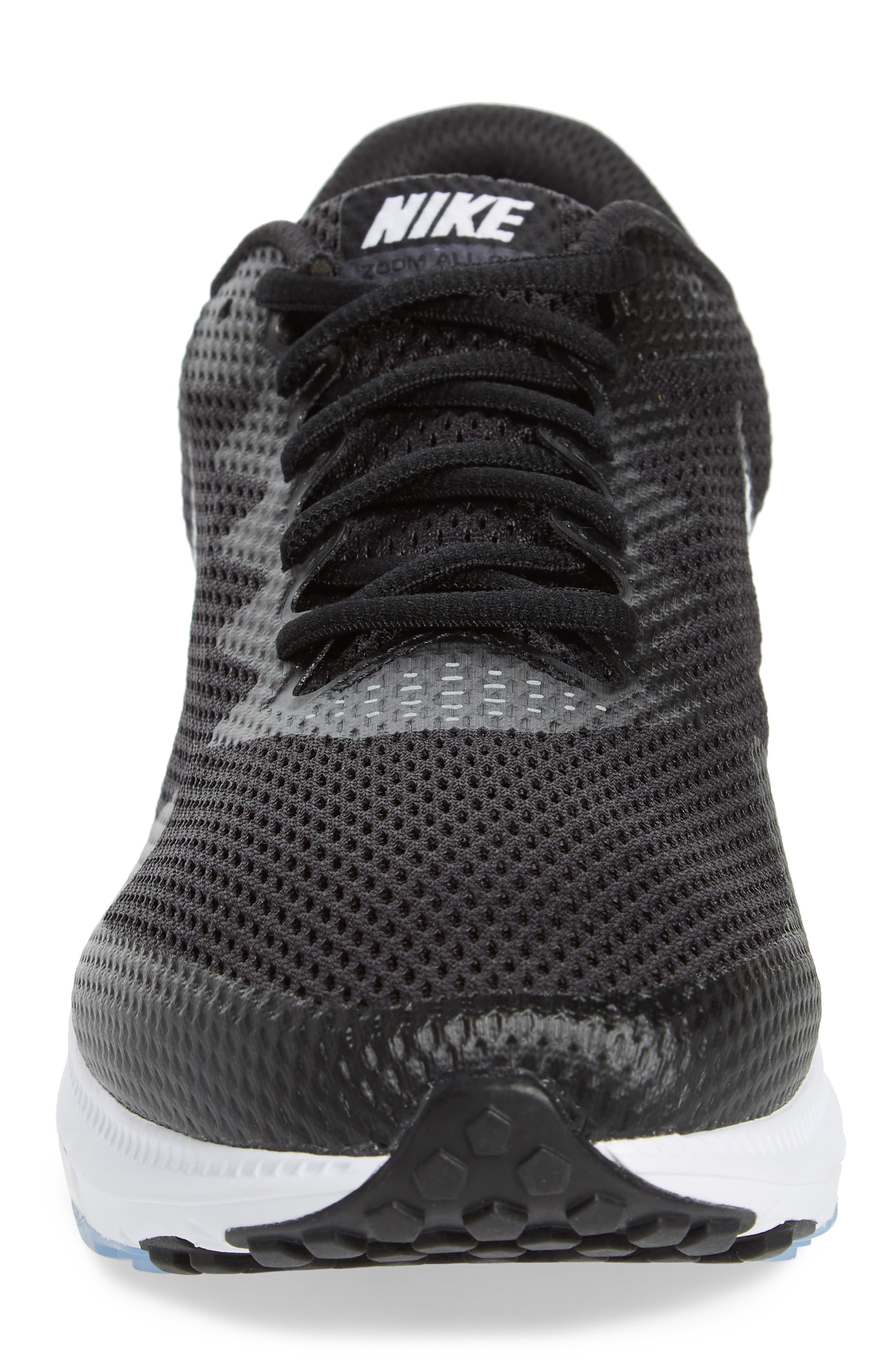 Zoom All Out Low 2 Running Shoe,                             Alternate thumbnail 4, color,                             Black/ White/ Anthracite