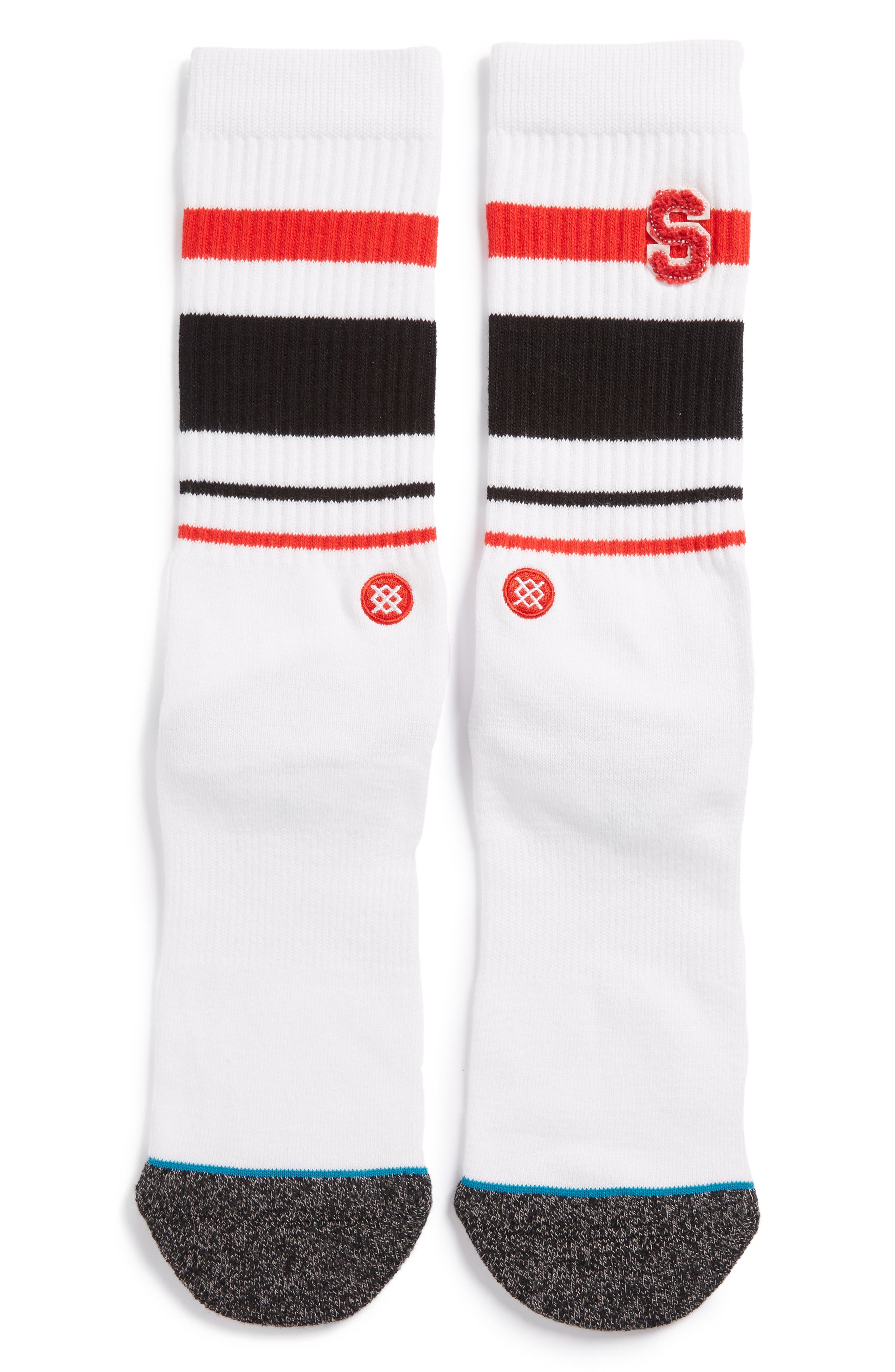 JV Crew Socks,                             Main thumbnail 1, color,                             White