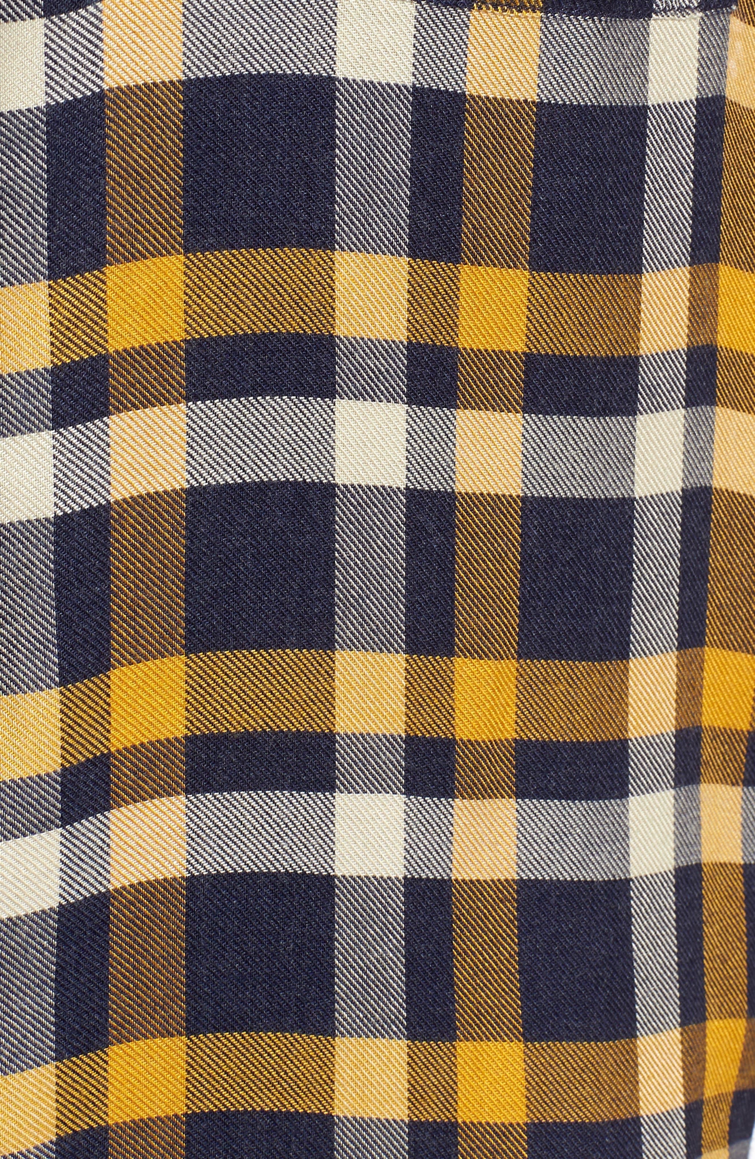 Plaid Boyfriend Shirt,                             Alternate thumbnail 5, color,                             Navy Maritime Offset Wndw Pane