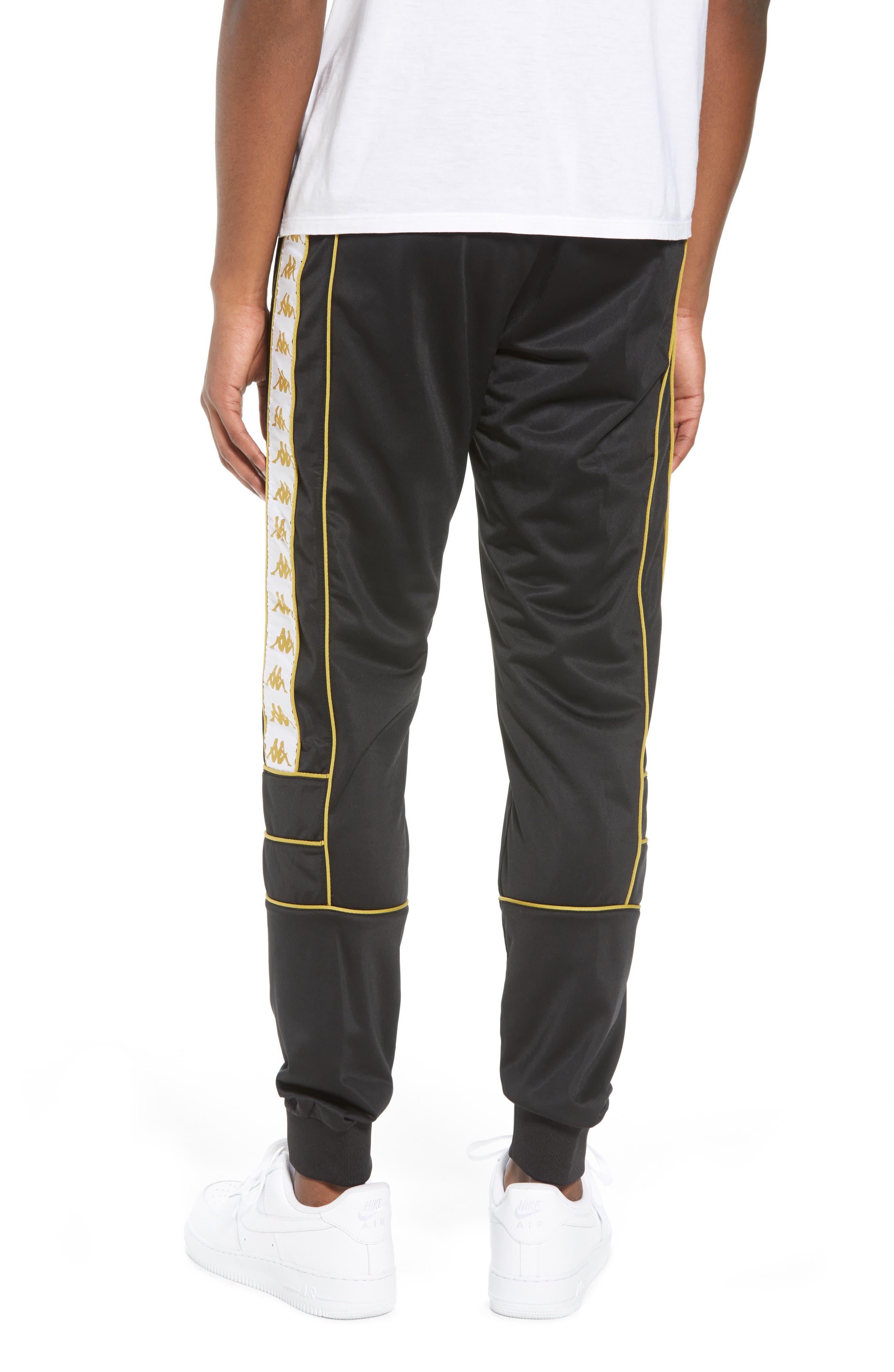 Racing Track Pants,                             Alternate thumbnail 2, color,                             Black/ White Gold