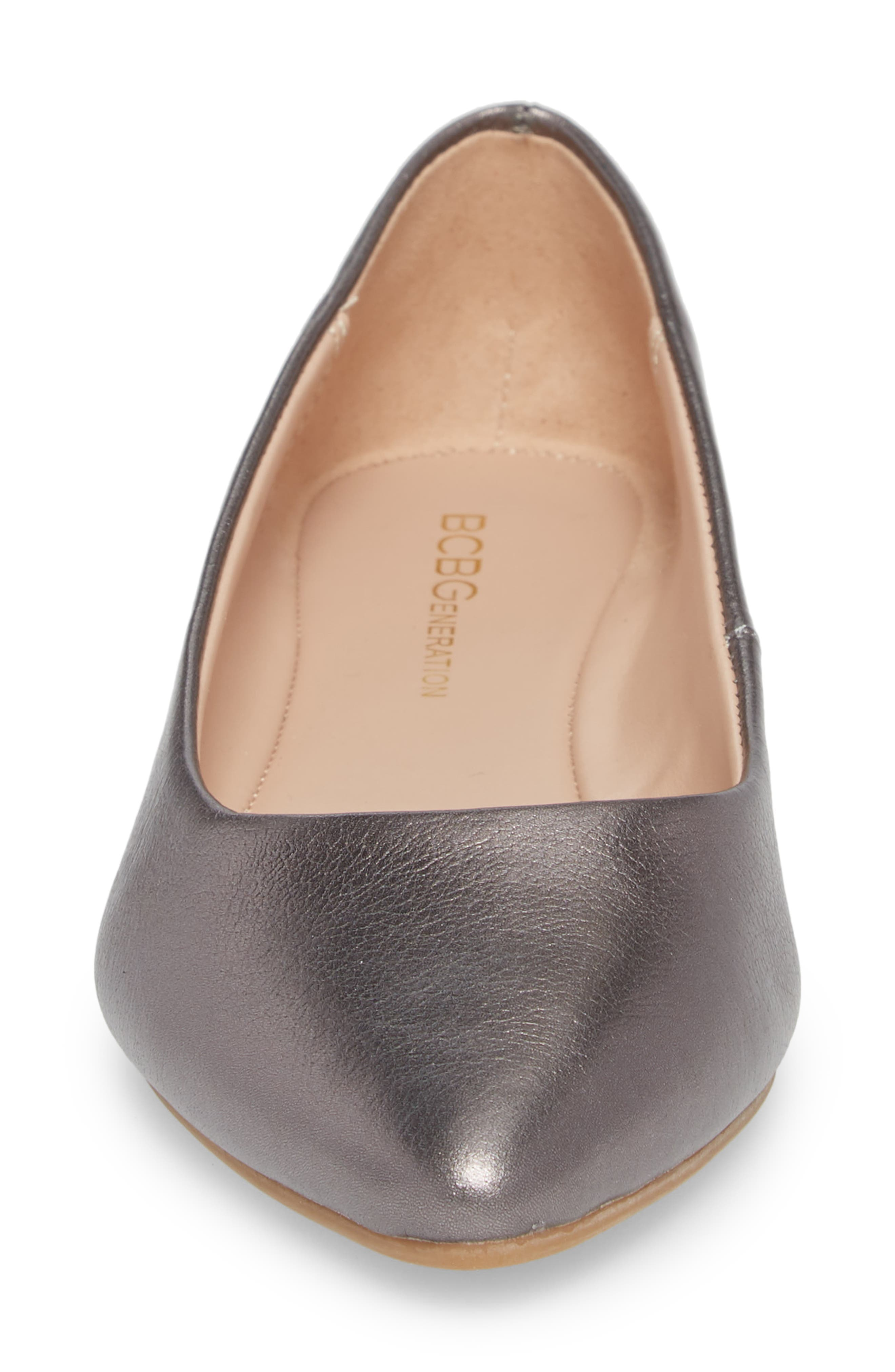 Millie Flat,                             Alternate thumbnail 4, color,                             Gunmetal Leather