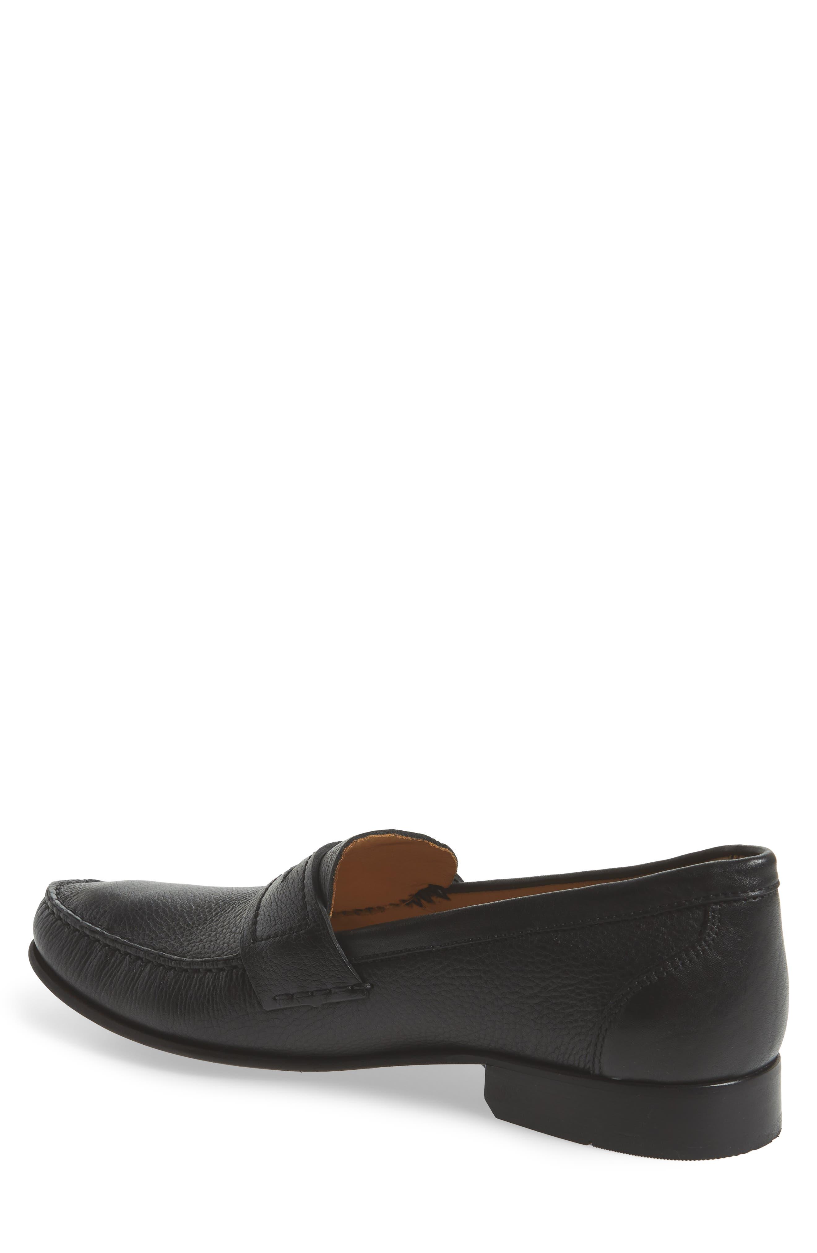 Eric Moc Toe Slip-On Loafer,                             Alternate thumbnail 2, color,                             Floater Black Leather
