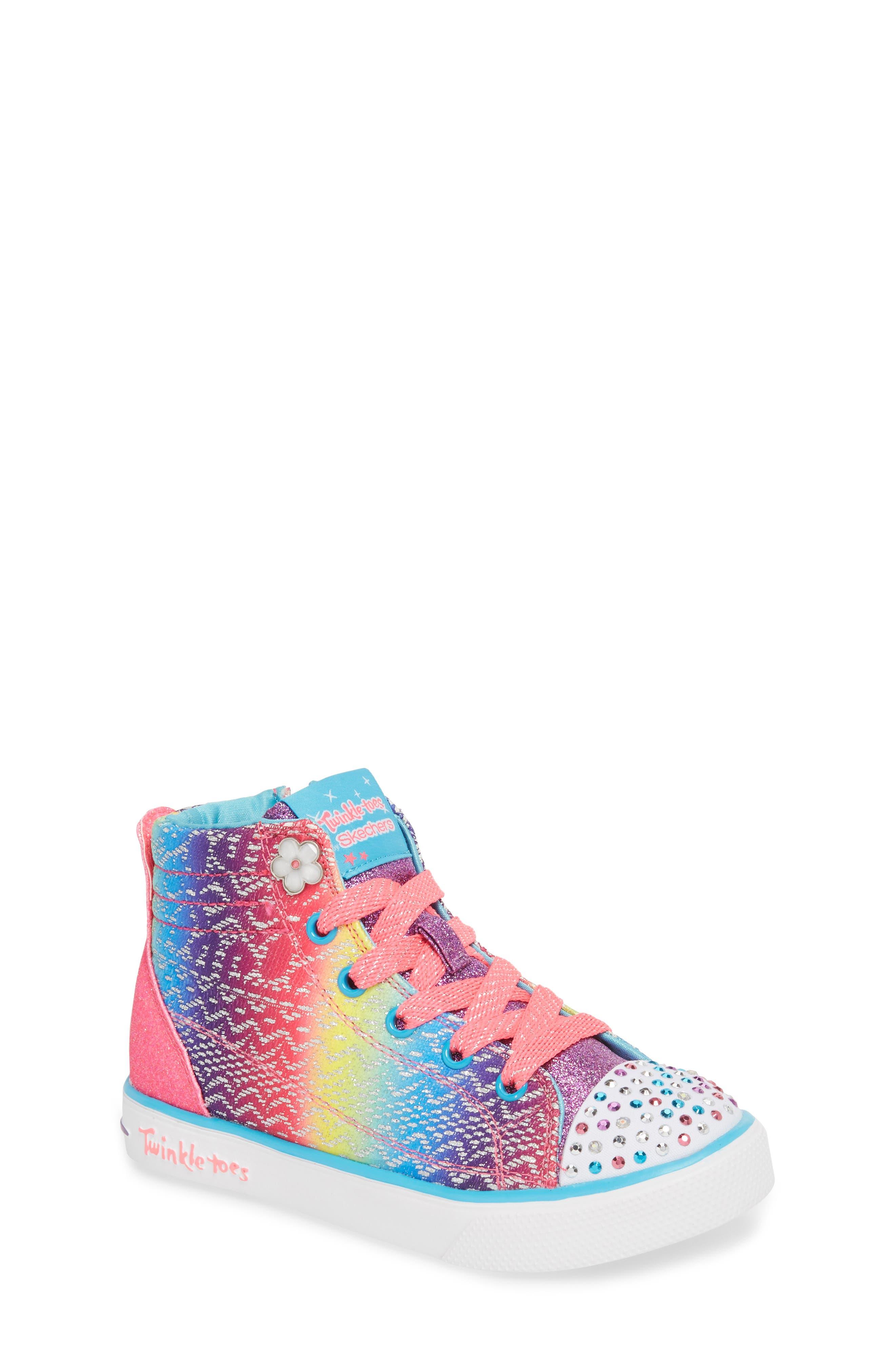 Main Image - SKECHERS Twinkle Toes Breeze 2.0 Light-Up High Top Sneaker (Toddler, Little Kid & Big Kid)