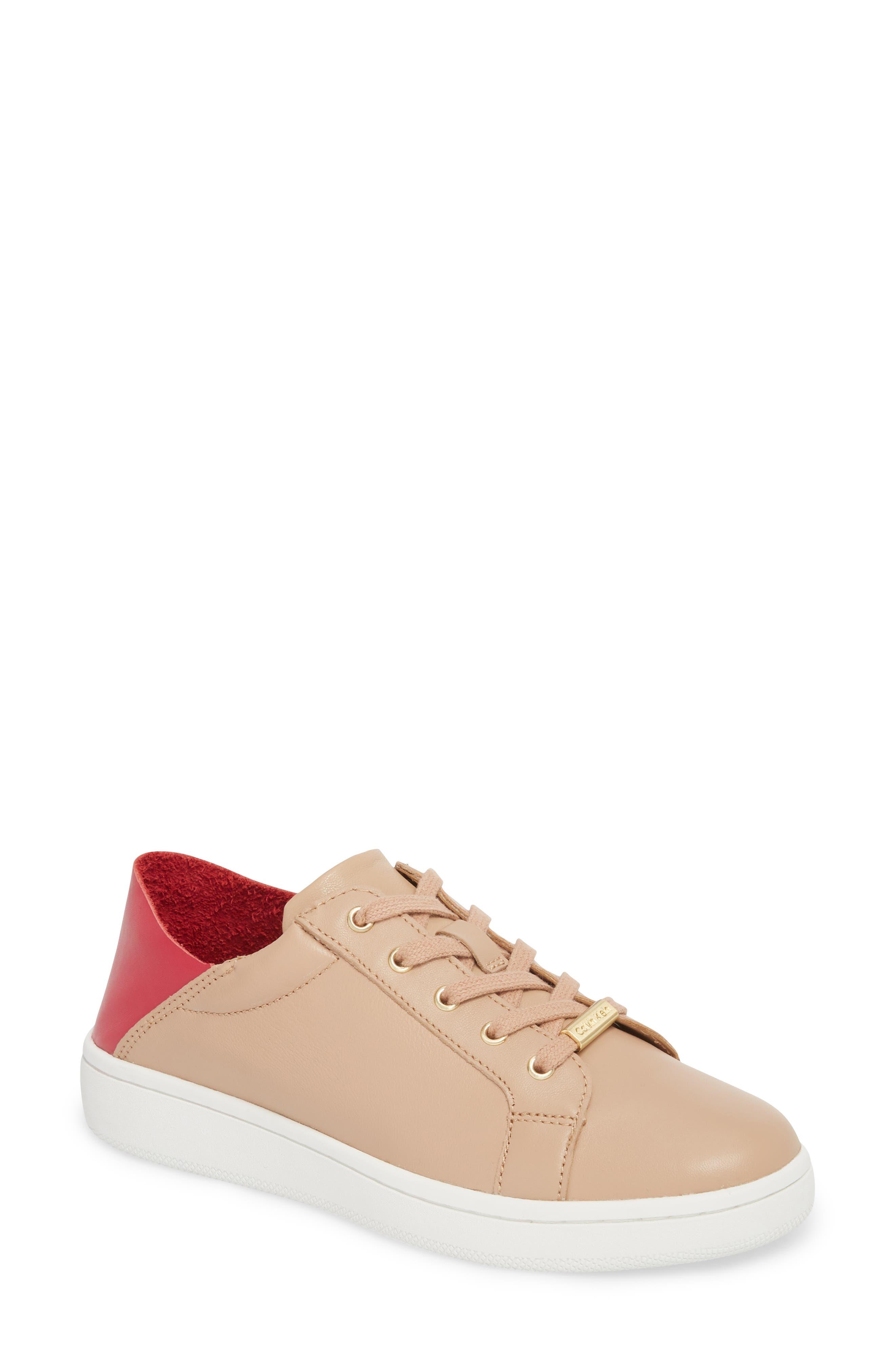 Danica Convertible Sneaker,                             Alternate thumbnail 3, color,                             Desert Sand Leather