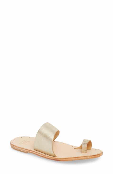 bd755d595559 Women s Grey Flat Heeled Sandals