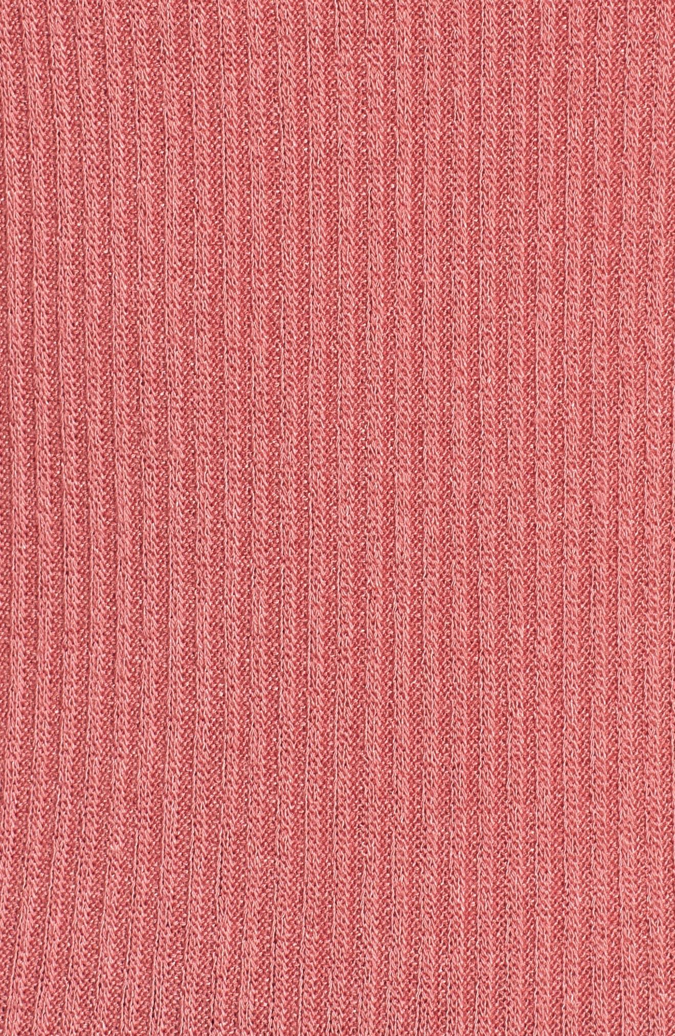 Rib Knit Tank,                             Alternate thumbnail 6, color,                             Rockin Rose