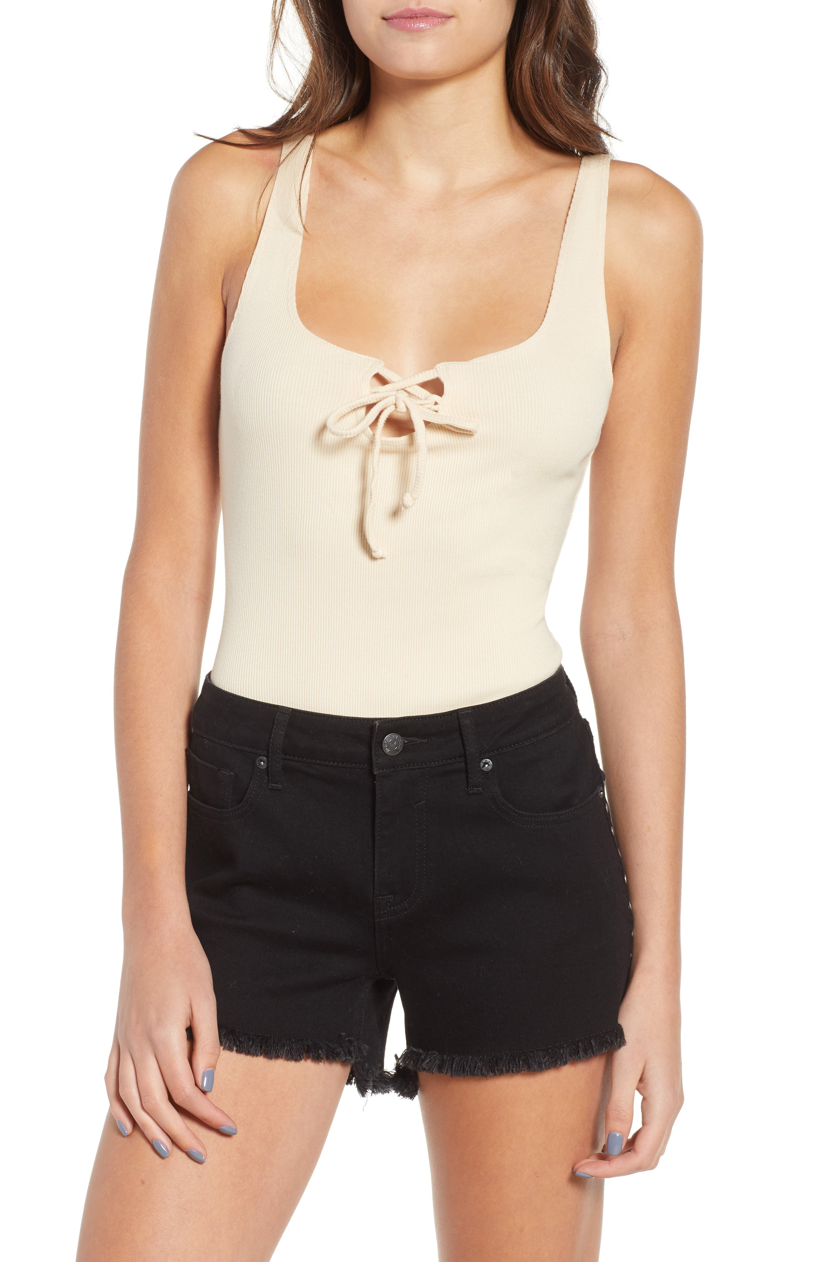 Tangled Up Rib Bodysuit,                         Main,                         color, Taupe