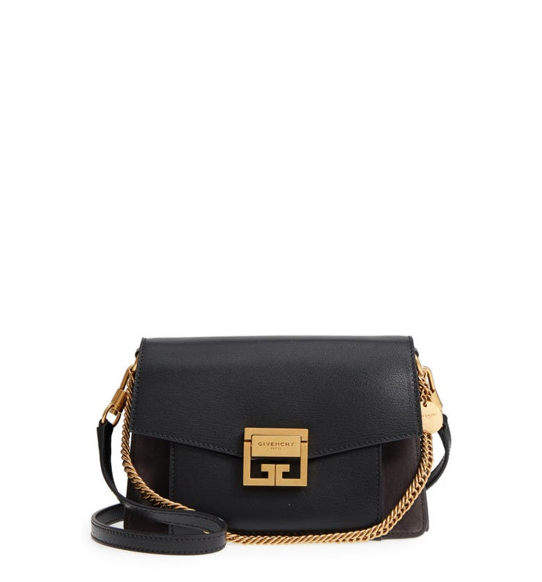 40af9577e46a Givenchy Gv3 Small Pebbled Leather Crossbody Bag