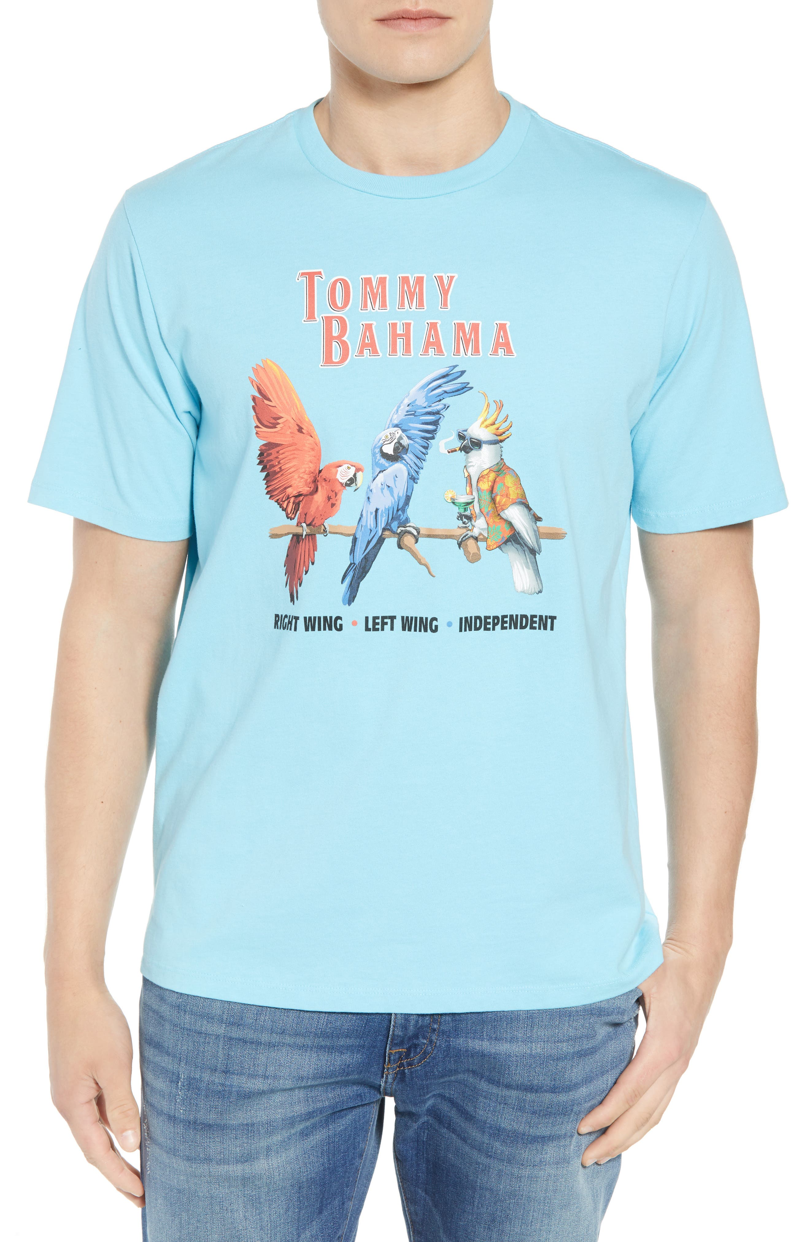 Right Wing Left Wing Graphic T-Shirt,                             Main thumbnail 1, color,                             Bowtie Blue