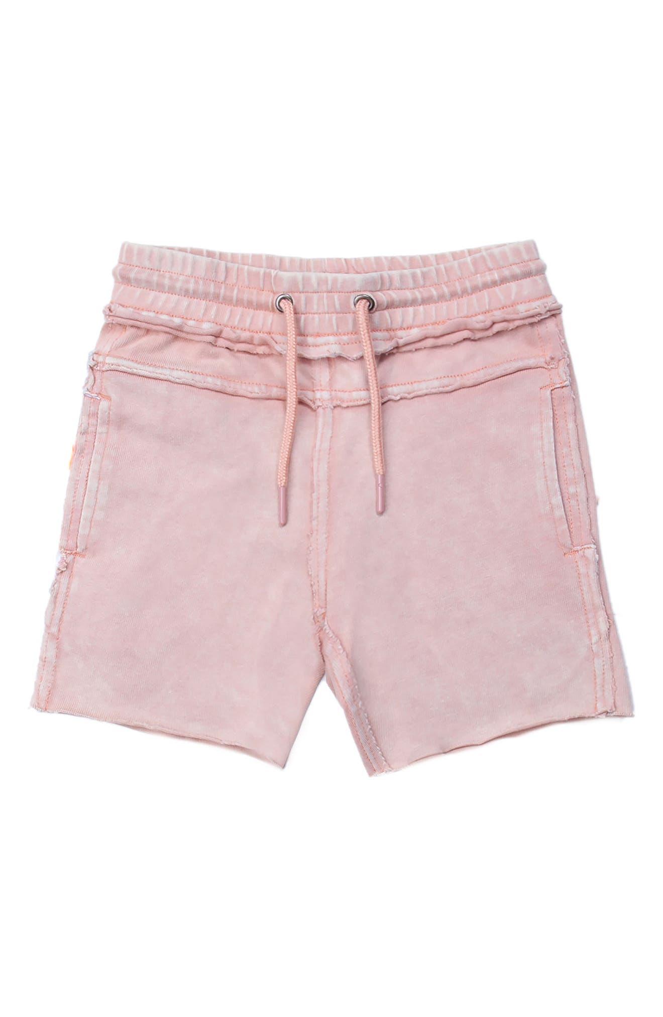 Kirk Distressed Shorts,                             Main thumbnail 1, color,                             Pink