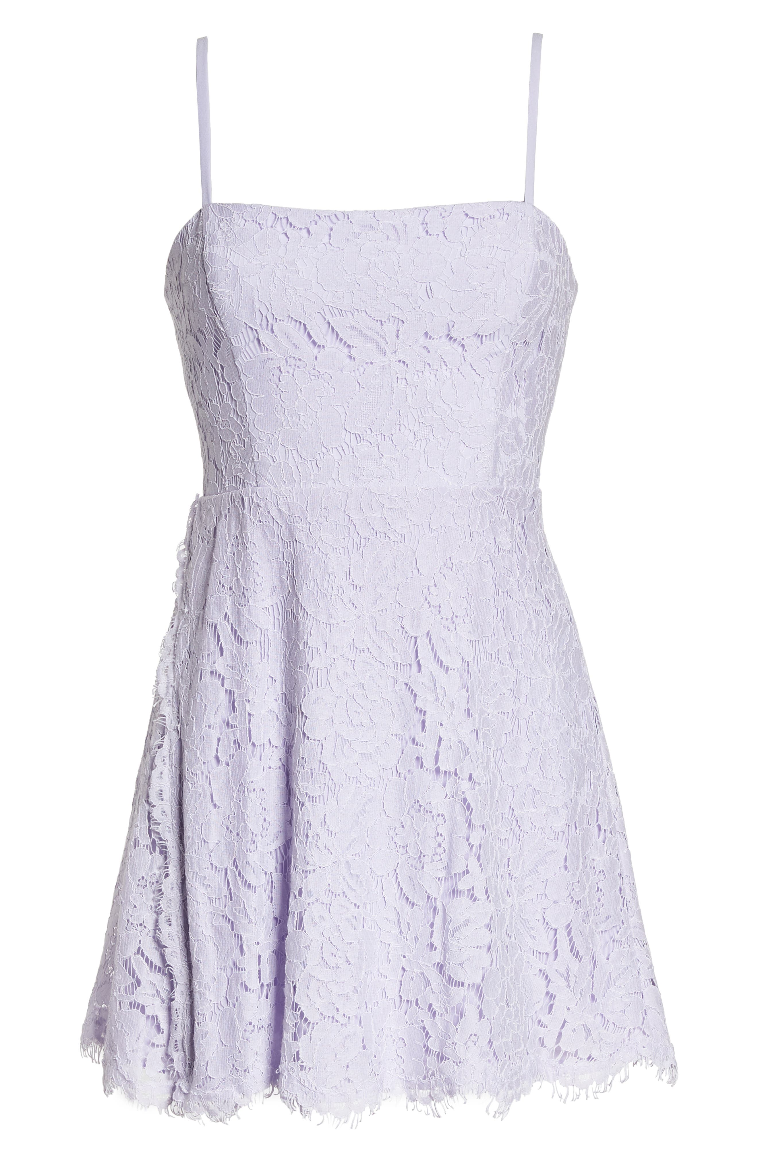 The Fiona Lace Minidress,                             Alternate thumbnail 6, color,                             Lilac