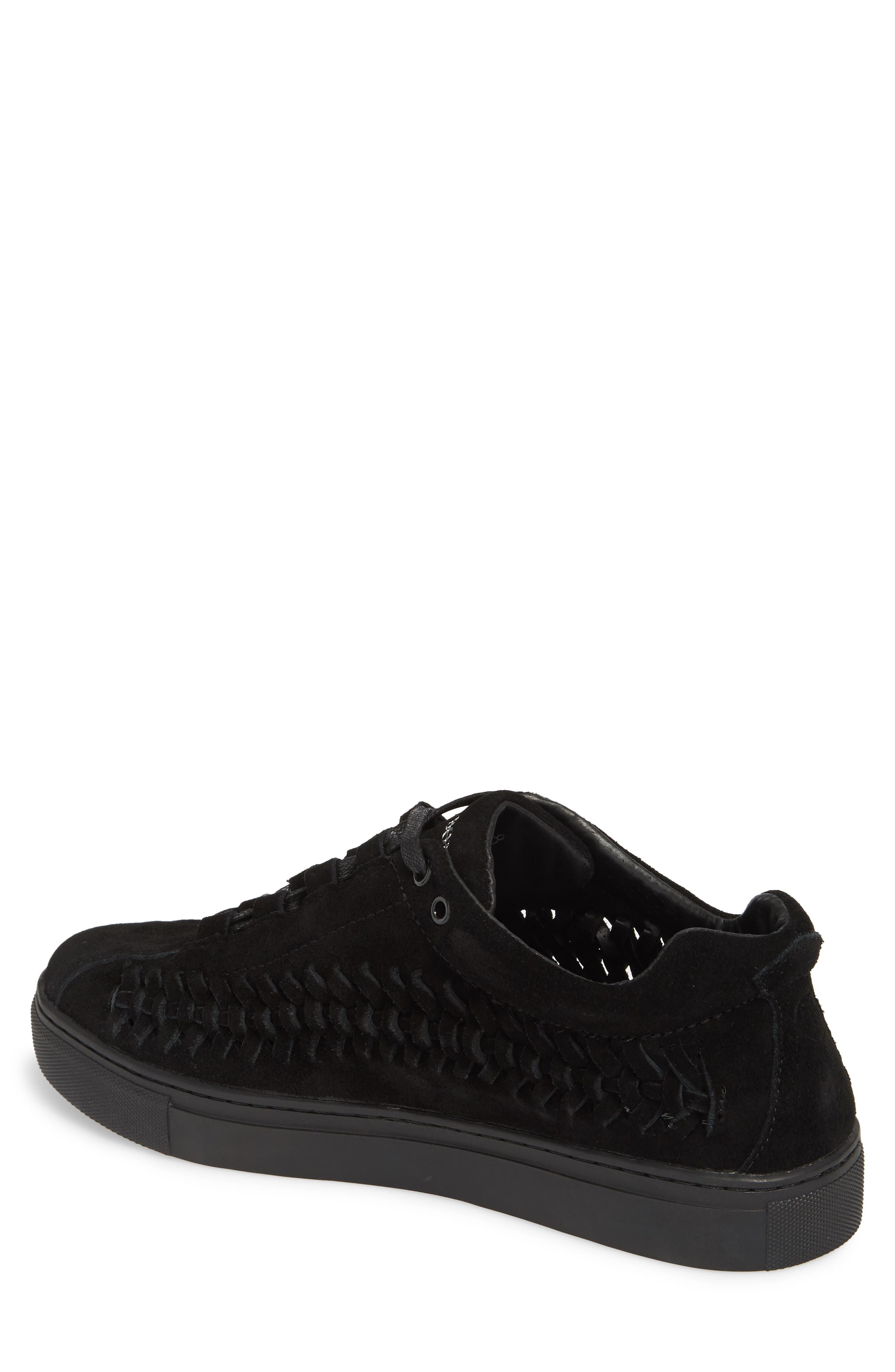 Leather Wire Sneaker,                             Alternate thumbnail 2, color,                             Black Suede