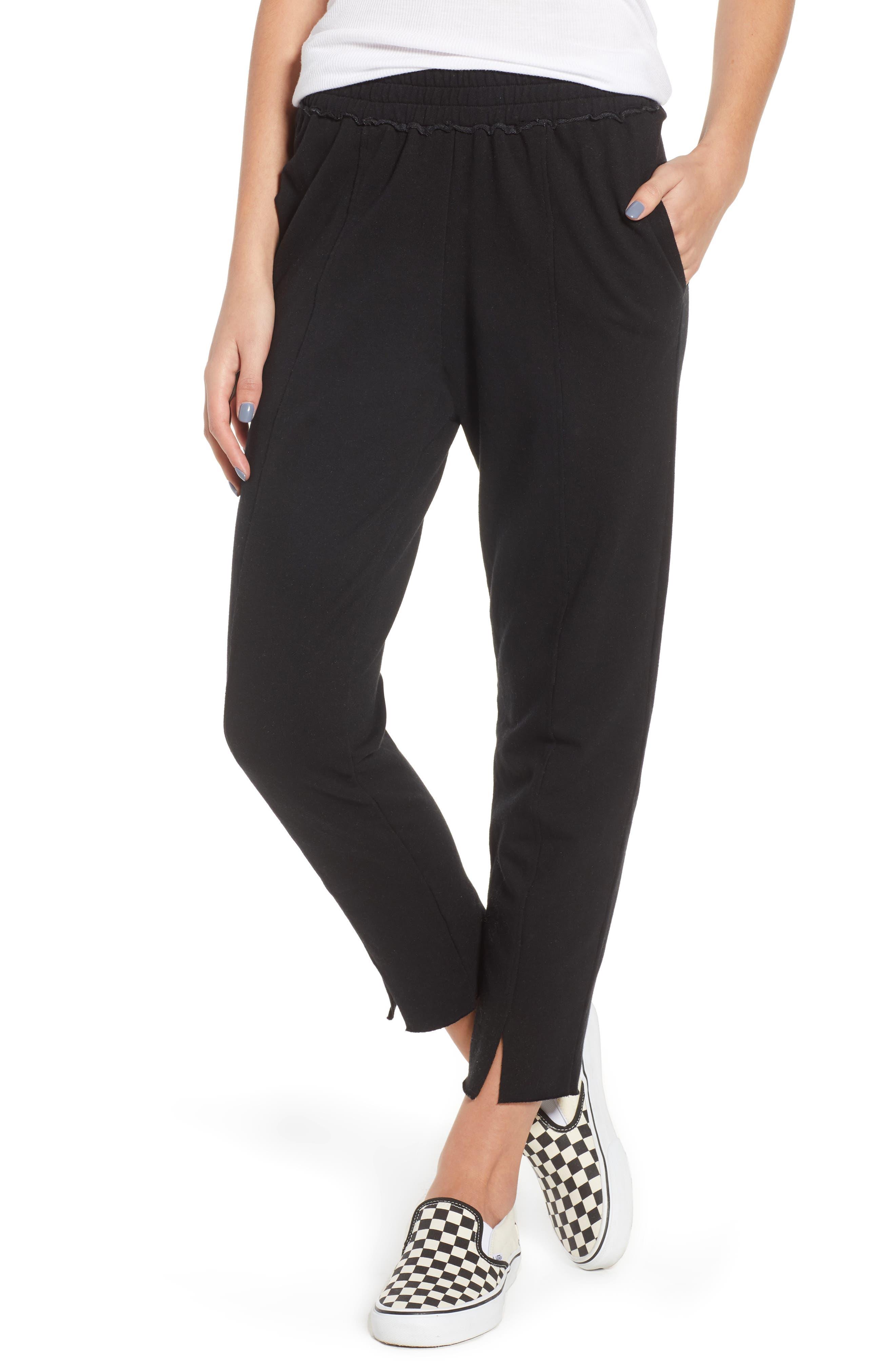 Lowsen Split Hem Sweatpants,                             Main thumbnail 1, color,                             Black