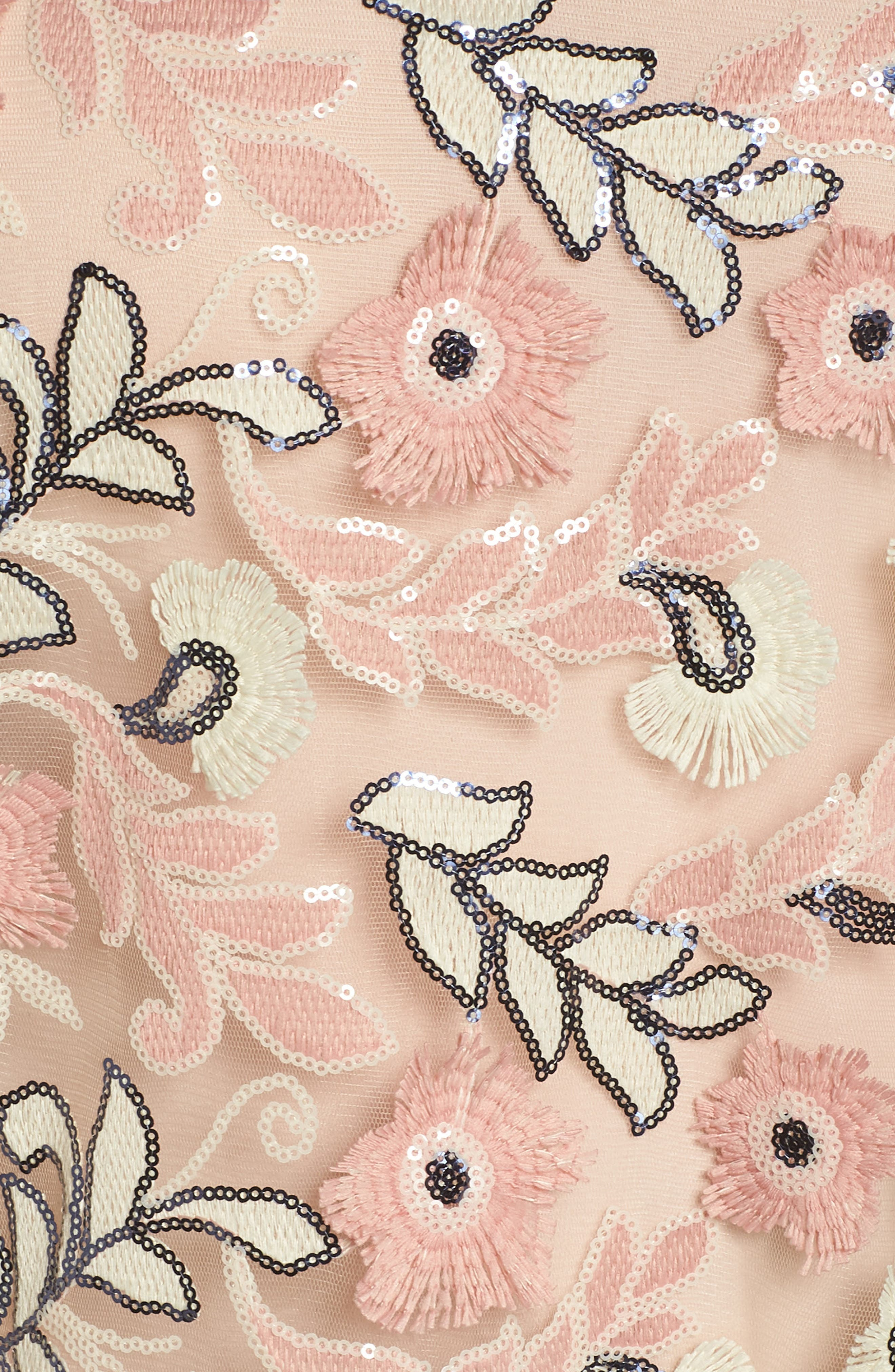 Sequin & Embroidered Top,                             Alternate thumbnail 6, color,                             Pink Fawn
