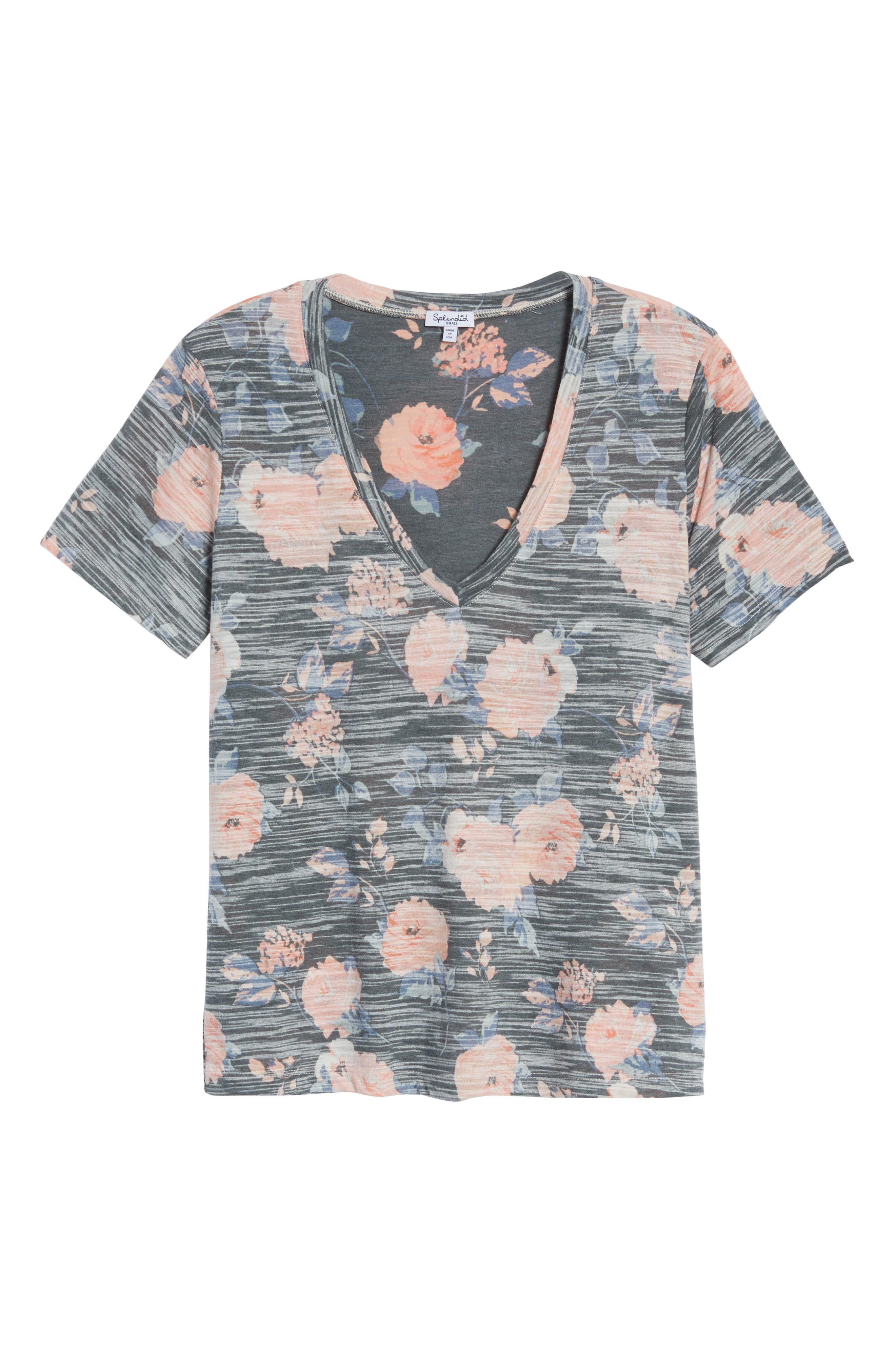 Floral Tee,                             Alternate thumbnail 6, color,                             Rose Floral