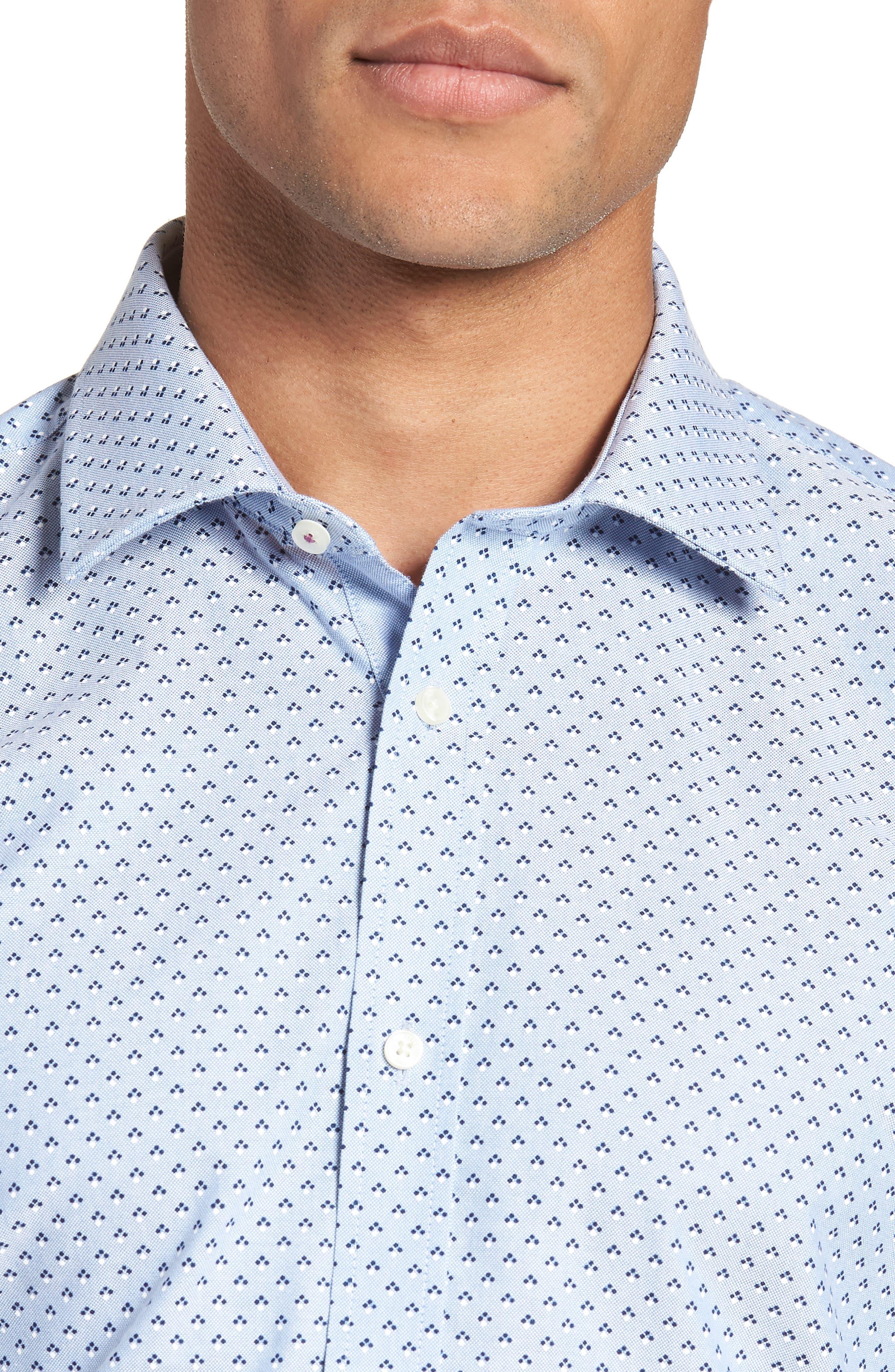 Forestr Trim Fit Geometric Dress Shirt,                             Alternate thumbnail 2, color,                             Blue