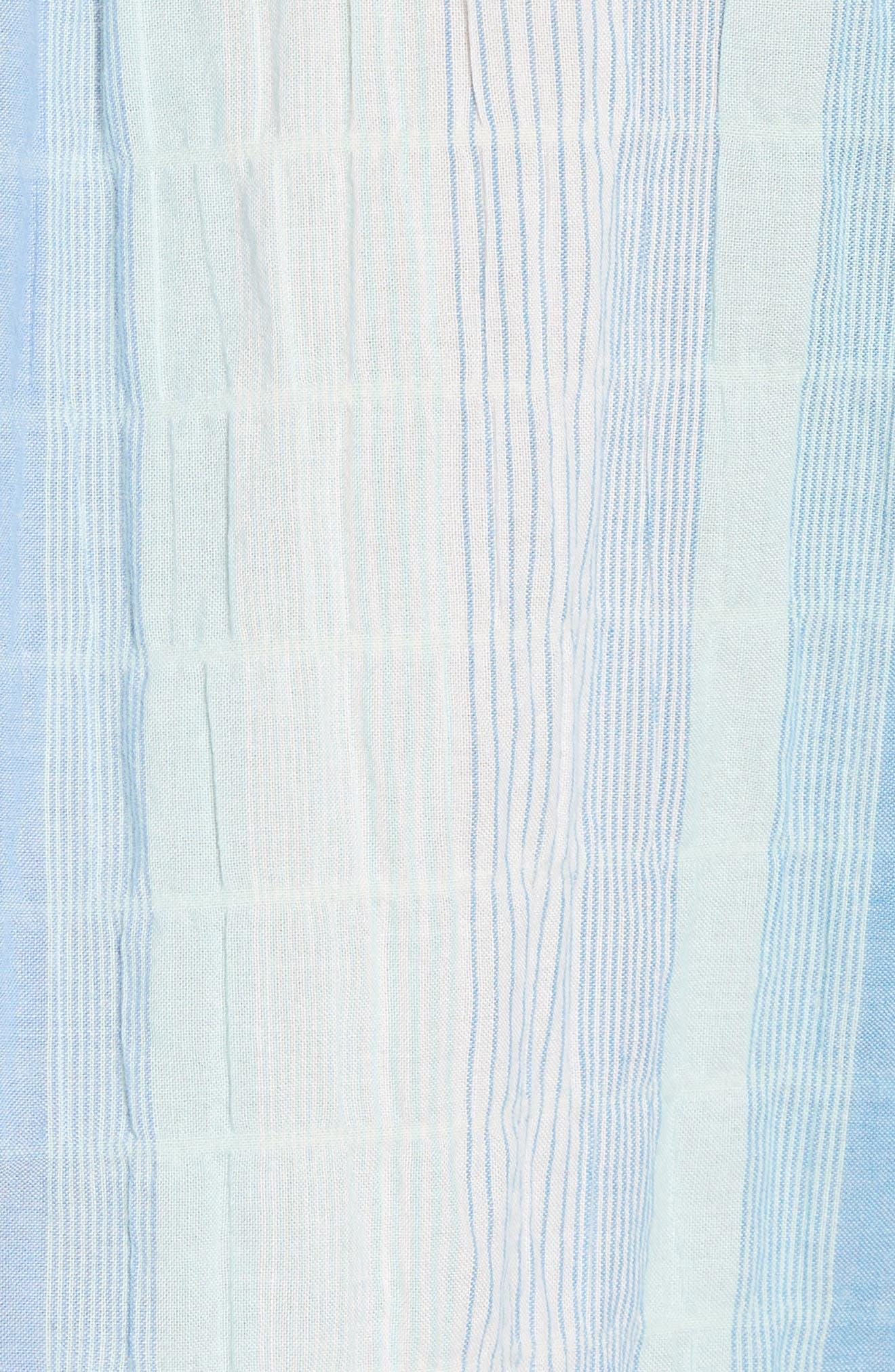 La Prisma Stripe Sport Shirt,                             Alternate thumbnail 5, color,                             Mint Mojito