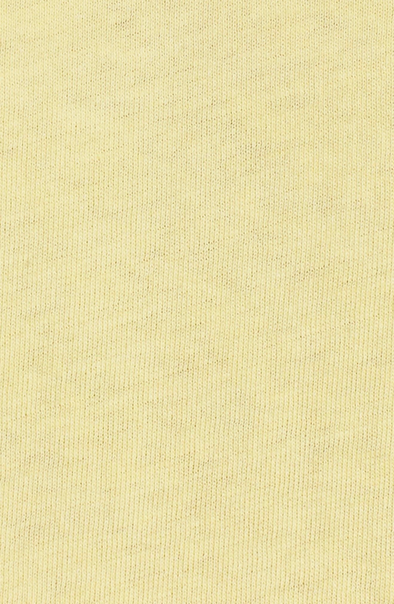 Paris Crop Tee,                             Alternate thumbnail 6, color,                             Washed Yellow