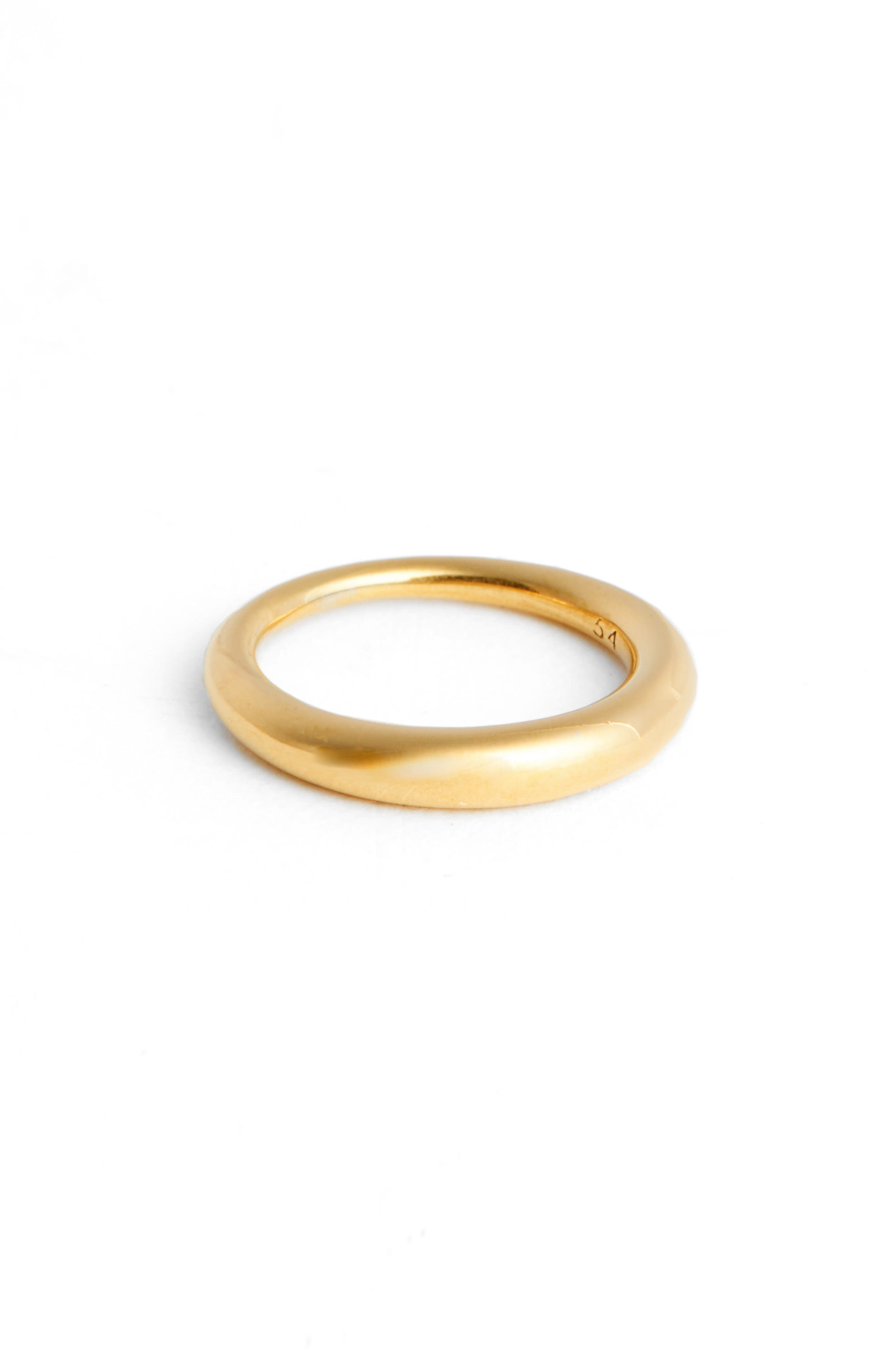 Small Snake Polished Silver Ring,                             Main thumbnail 1, color,                             Gold Vermeil