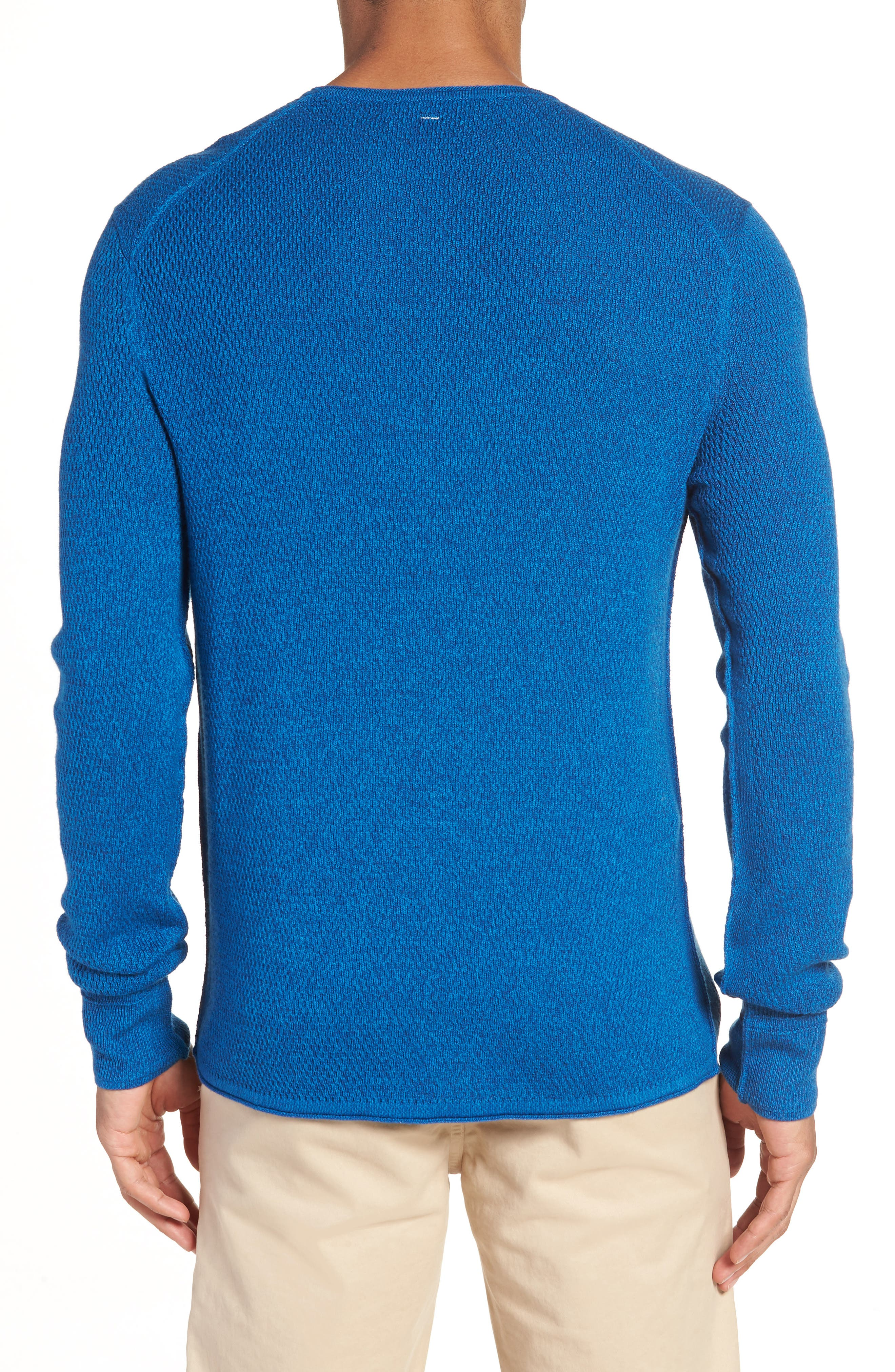 Gregory Wool Blend Crewneck Sweater,                             Alternate thumbnail 2, color,                             Bright Blue