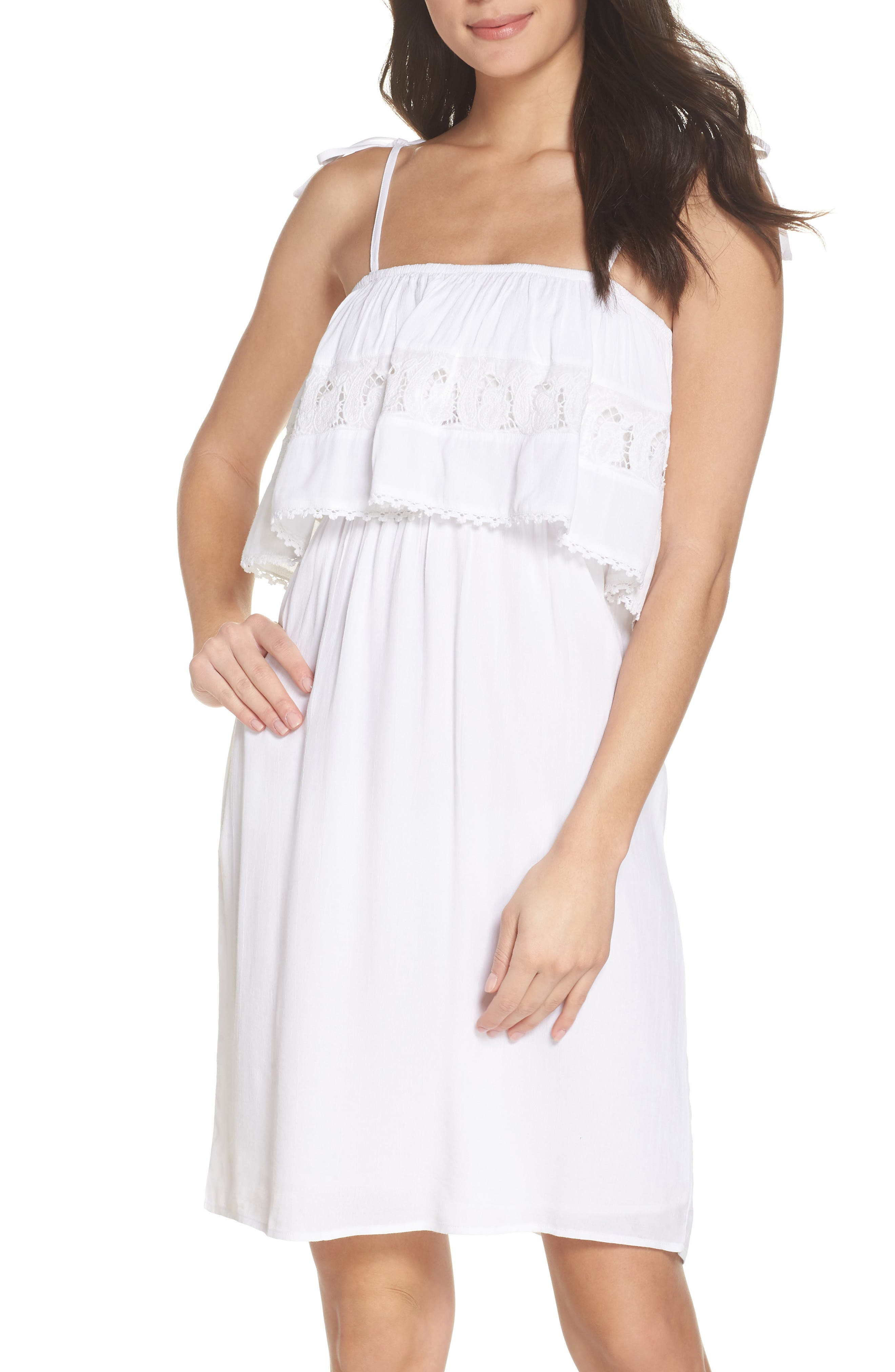 Jaclyn Cover-Up Dress,                         Main,                         color, White