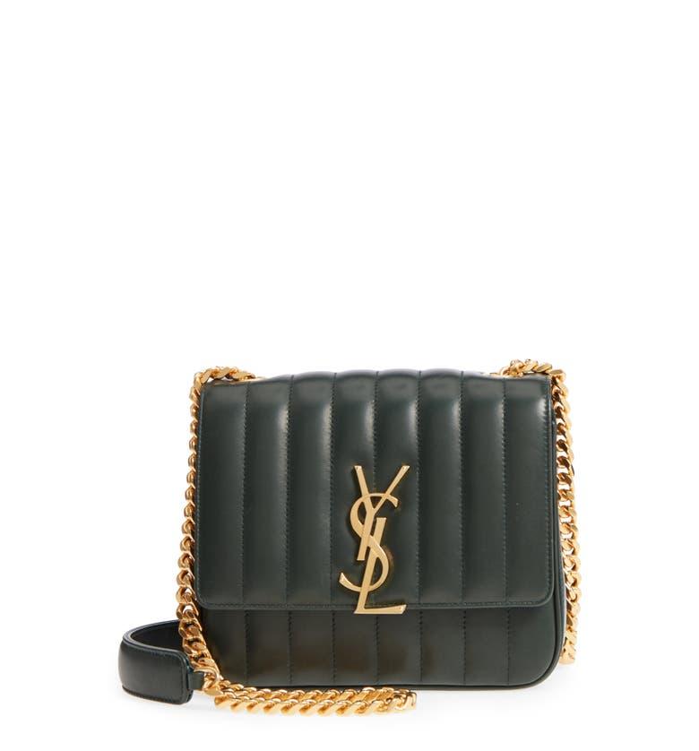 fb1daa1722e4 Saint Laurent Women s Monogram Vicky Medium Leather Chain Bag - Black A  great designer gift. Shop Saint Laurent at Barneys New York.