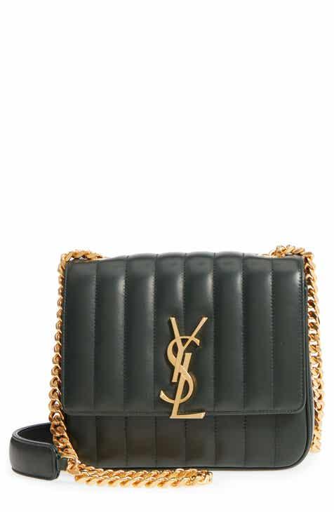 7608fc87d10a Saint Laurent Medium Vicky Leather Crossbody Bag