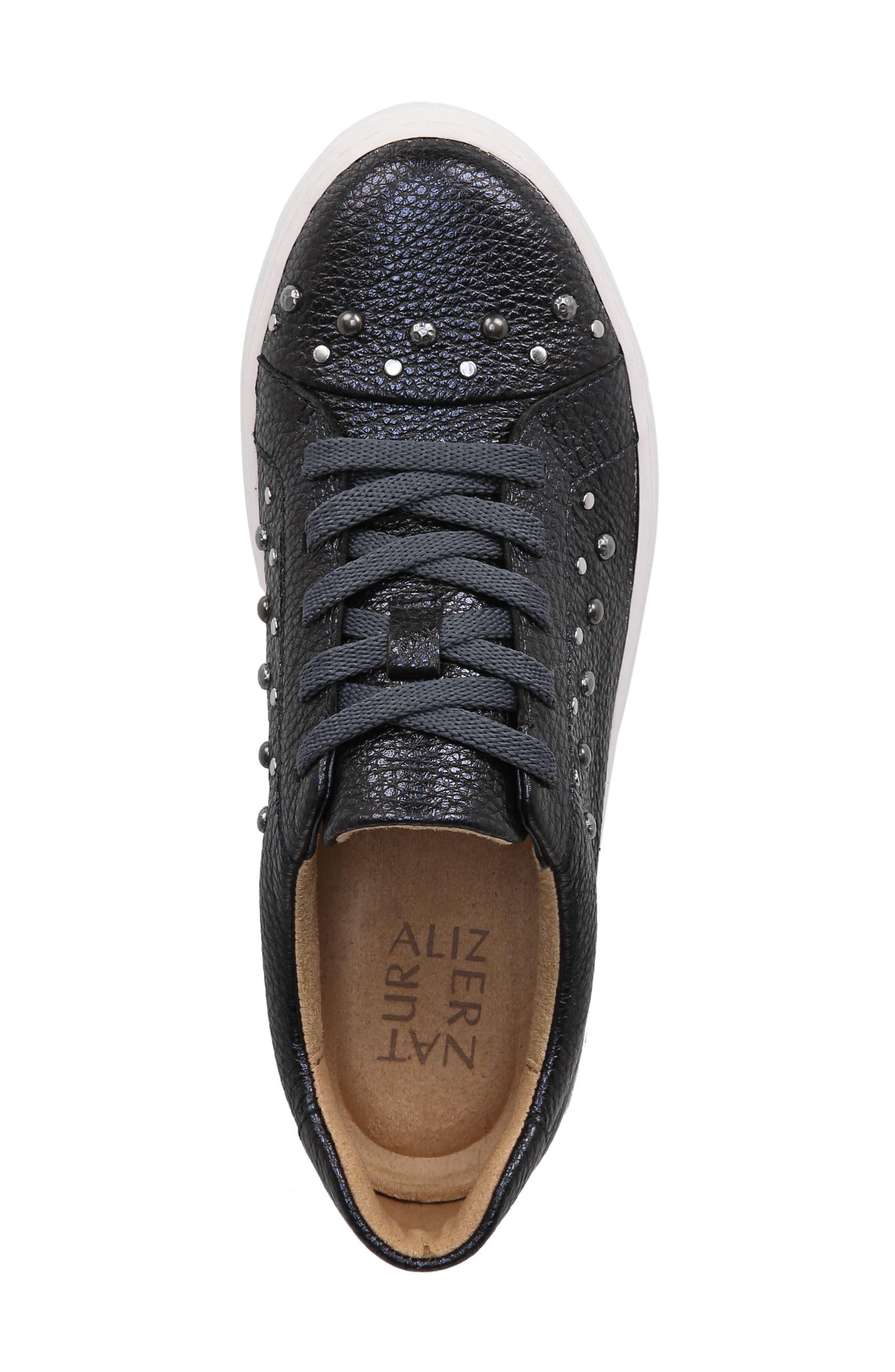 Cairo Sneaker,                             Alternate thumbnail 2, color,                             Blue Metallic Leather