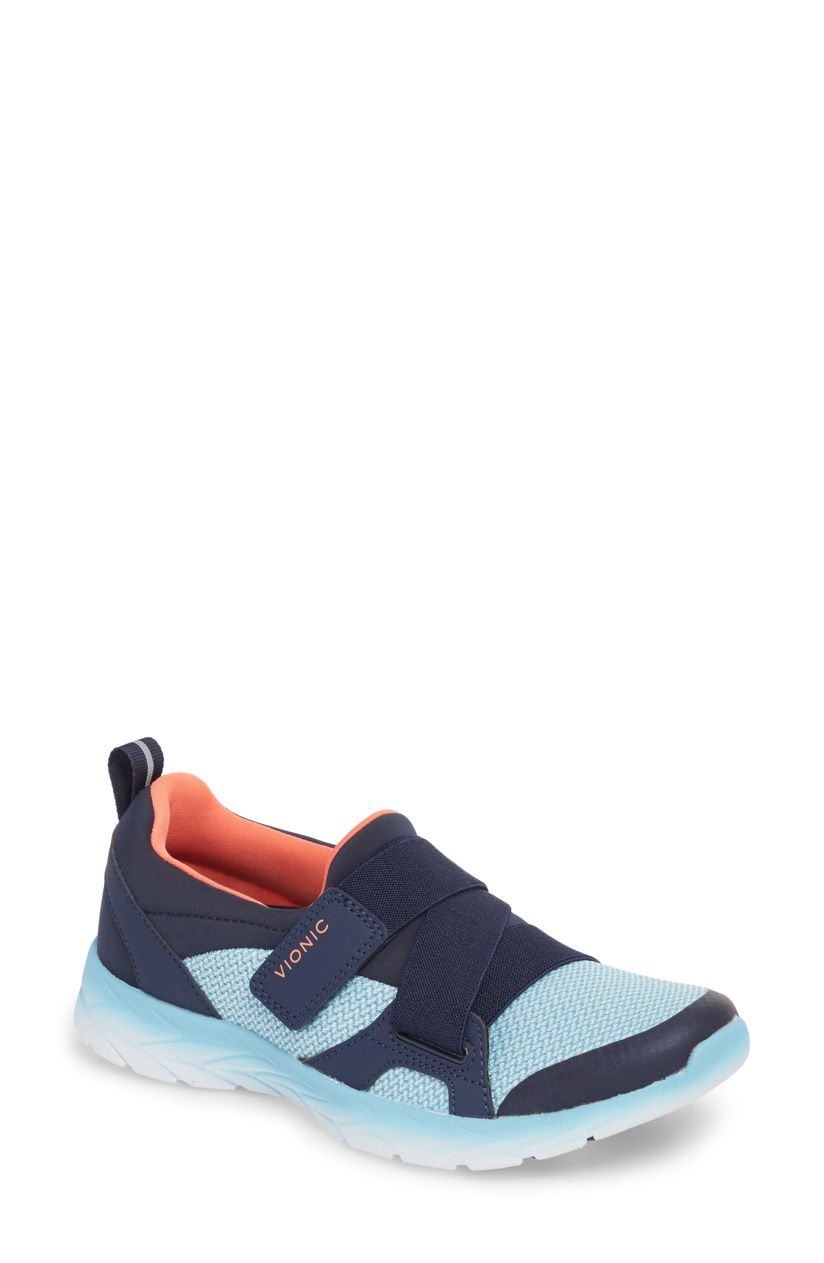 Dash Sneaker,                         Main,                         color, Navy/ Light Blue Fabric