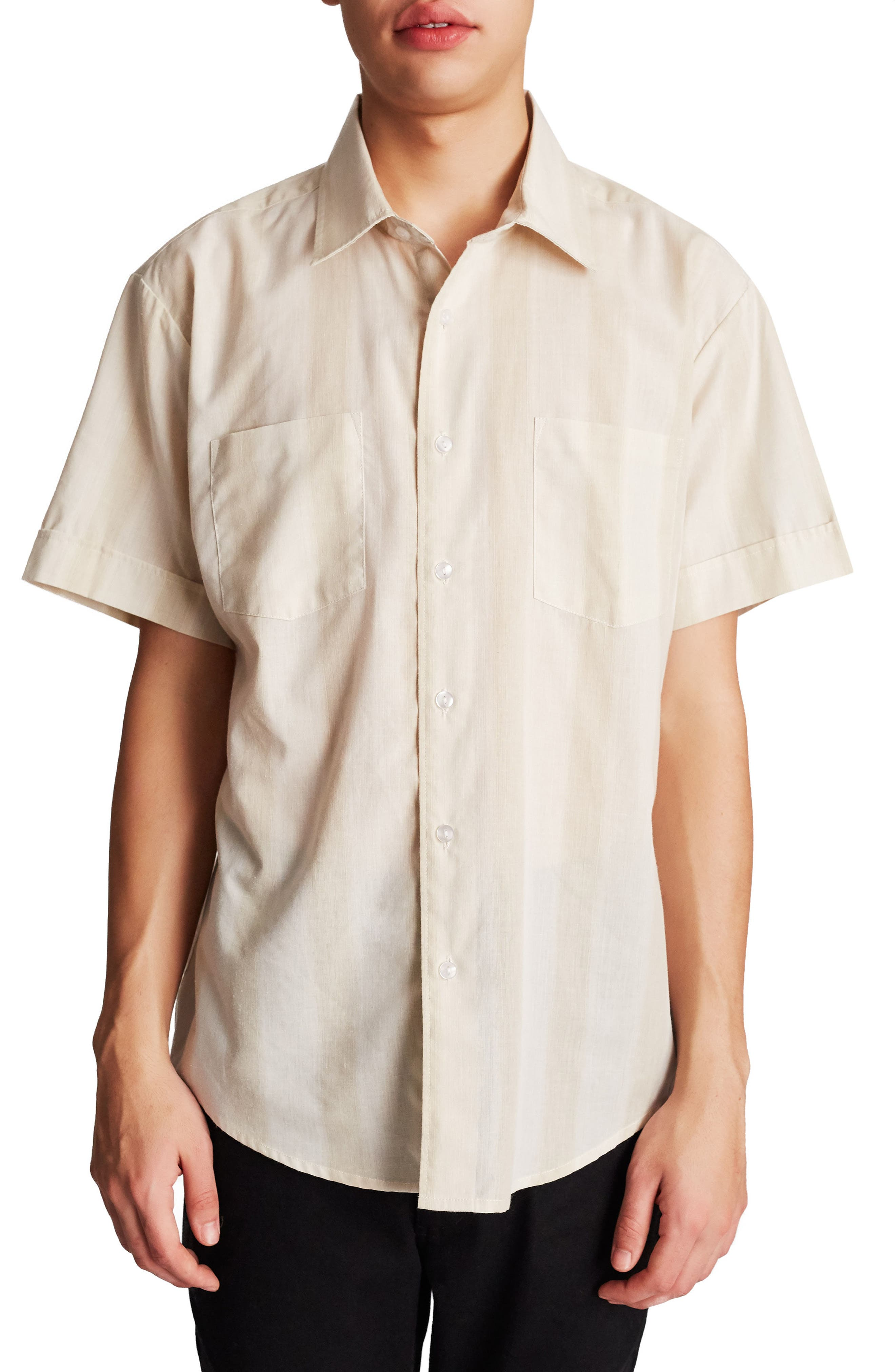 Branson Woven Shirt,                             Main thumbnail 1, color,                             Grey/ Mint