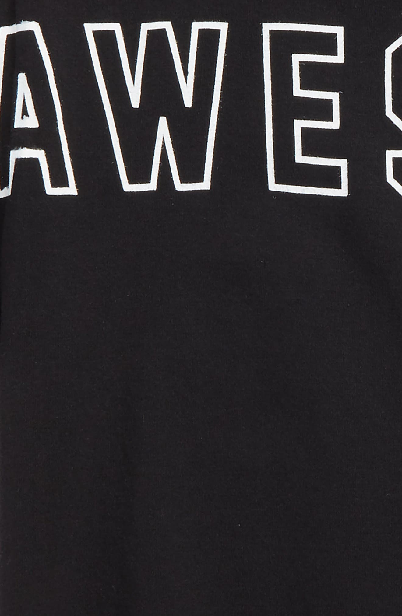 Awesome Graphic Organic Cotton T-Shirt,                             Alternate thumbnail 2, color,                             Black