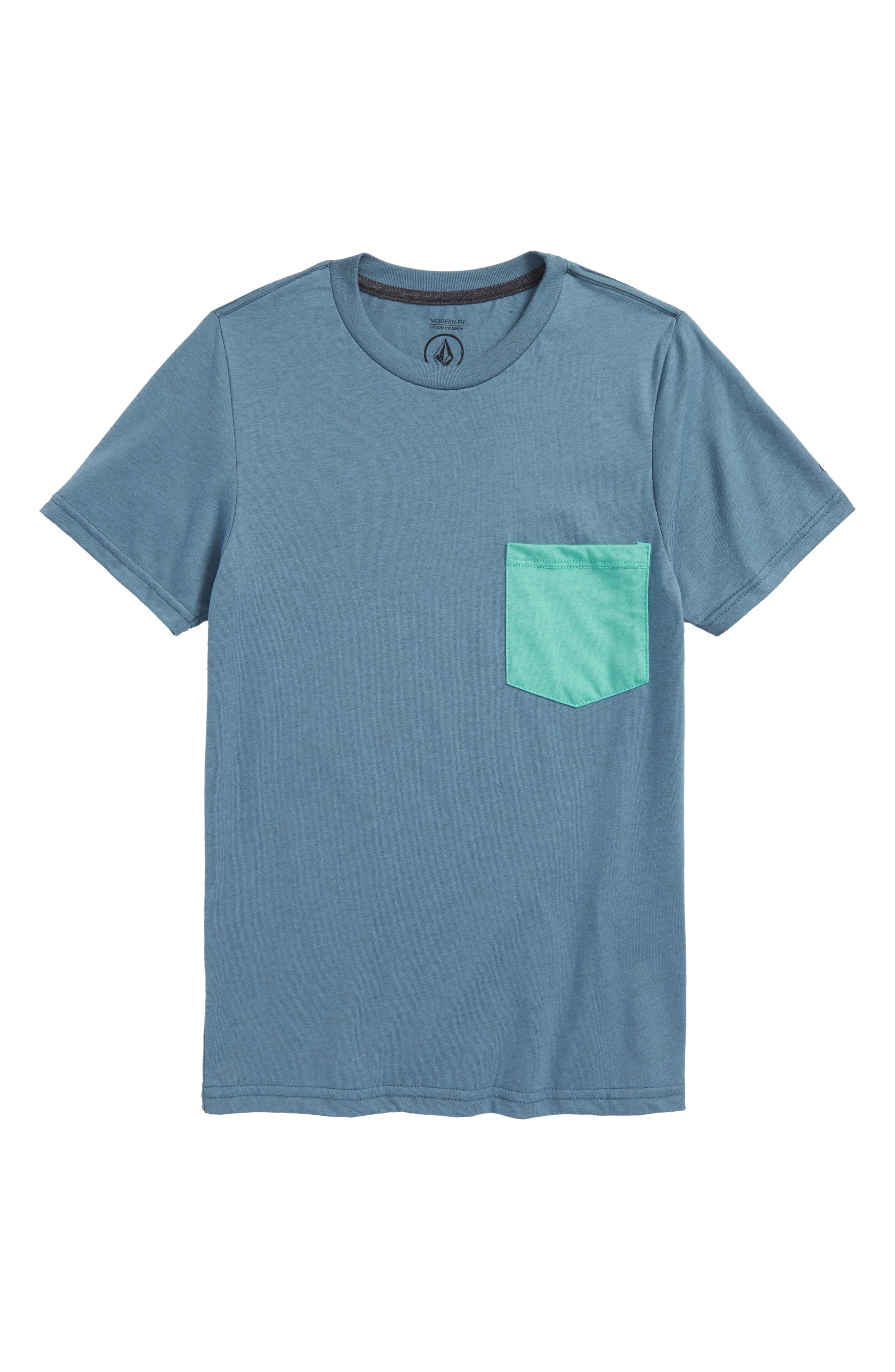 Heather Pocket T-Shirt,                             Main thumbnail 1, color,                             Wrecked Indigo